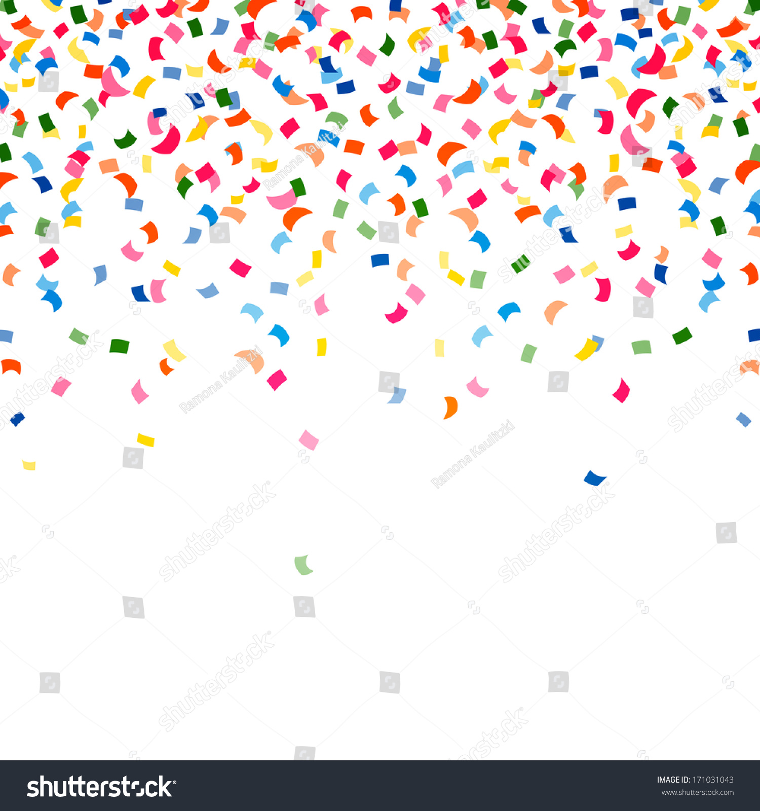 Vector Illustration Colorful Party Background Confetti ...