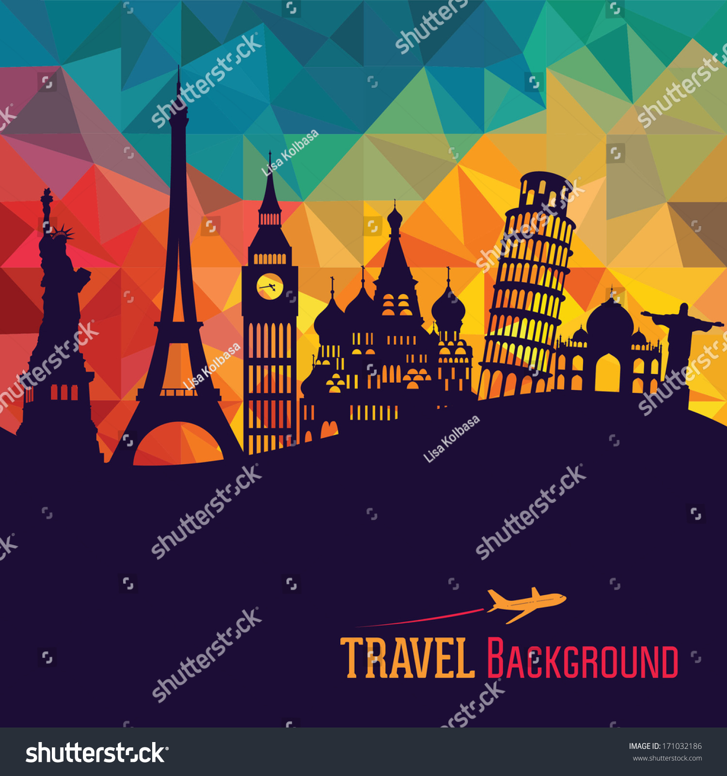 Travel Tourism Background Stock Vector 171032186 Shutterstock