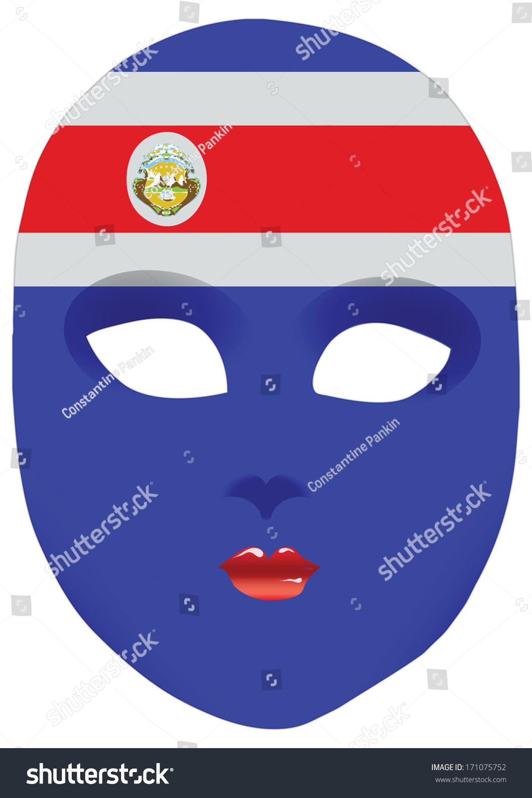 Classic mask symbols statehood costa rica stock vector 171075752 classic mask with symbols of statehood of costa rica vector illustration biocorpaavc Gallery