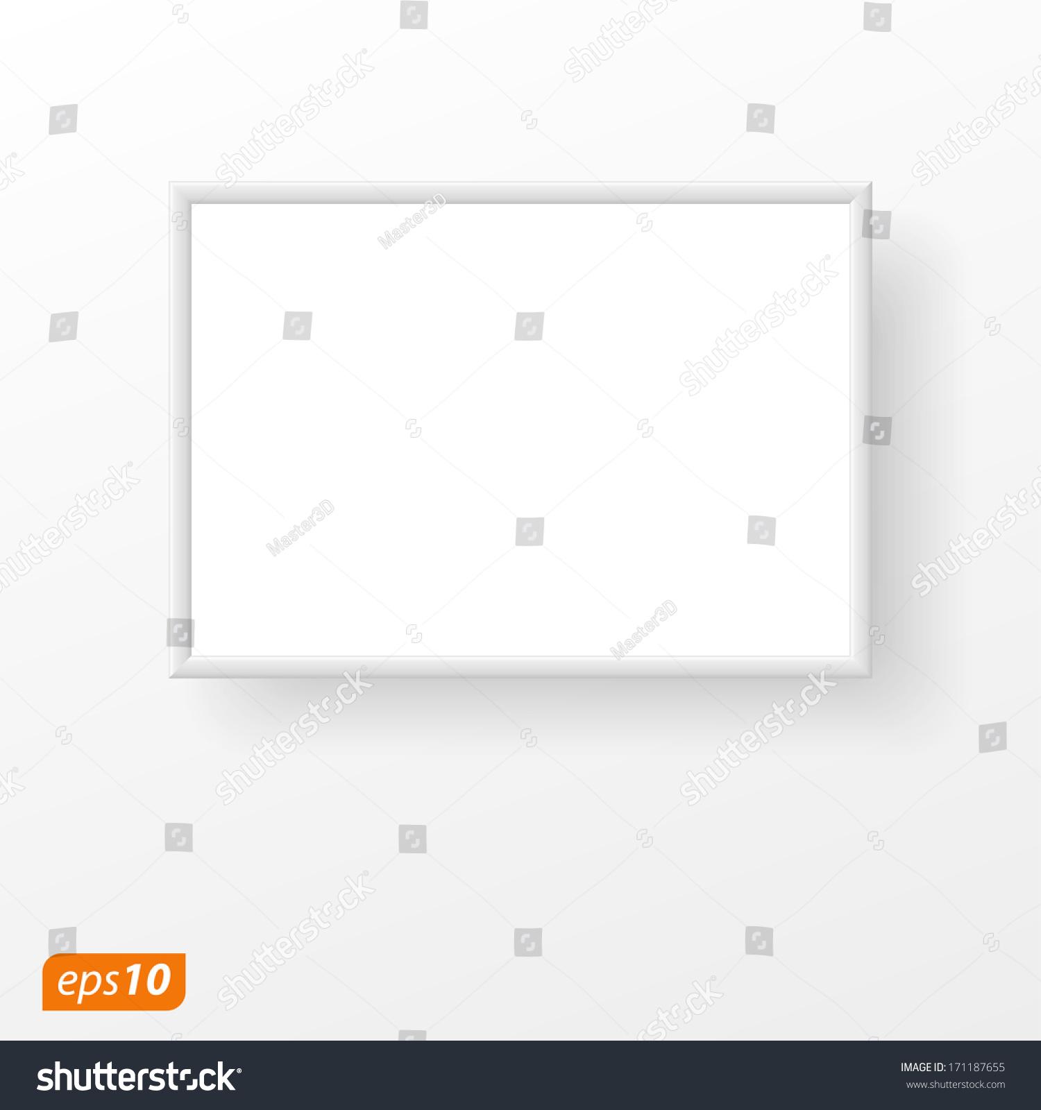 White frame on white plane stock vector 171187655 shutterstock white frame on white plane jeuxipadfo Gallery