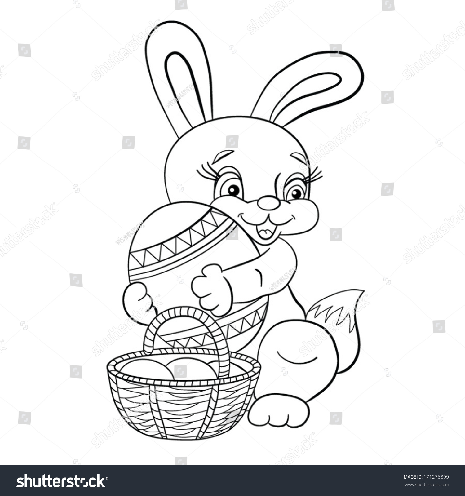coloring book rabbit pictures : Co Coloring Book Rabbit Pictures 1