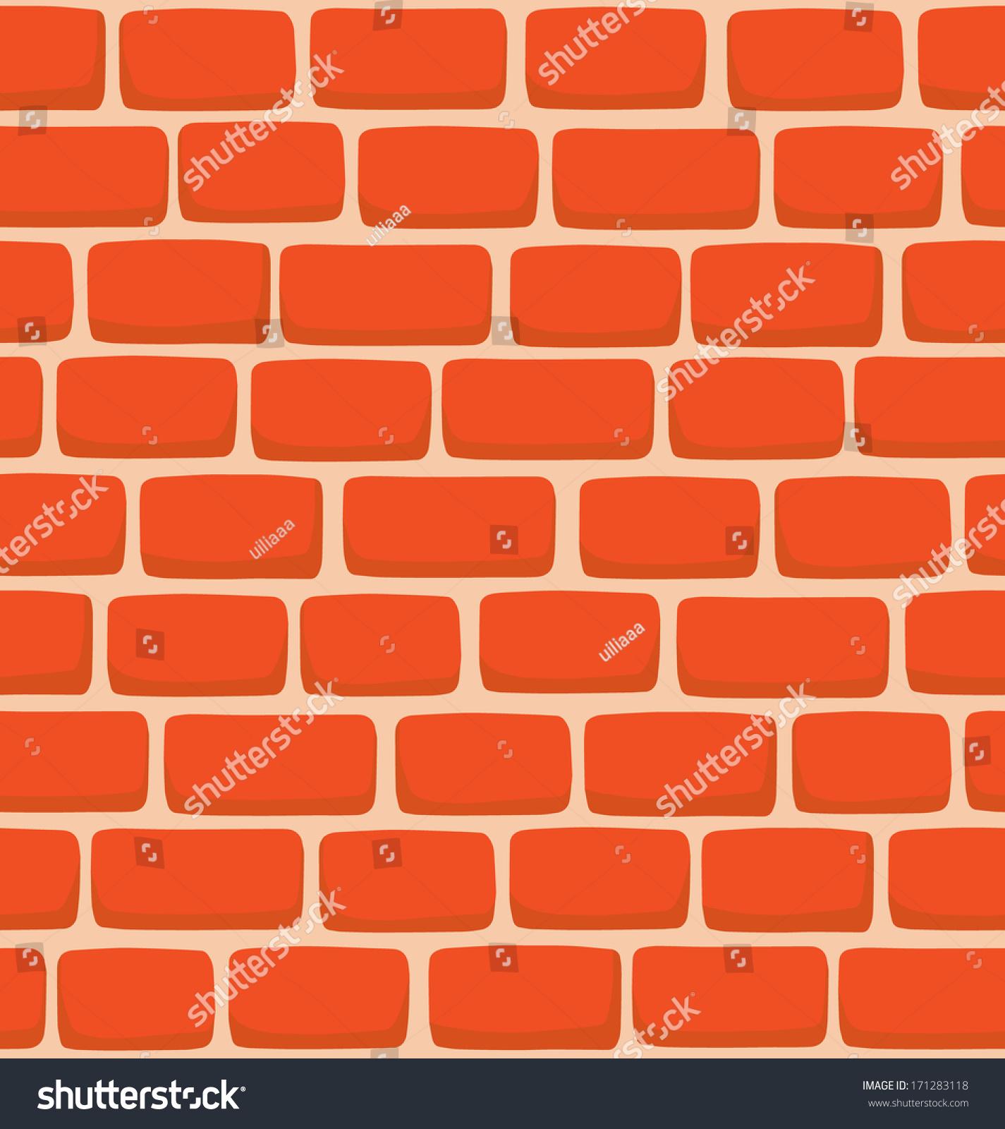 Seamless Texture Cartoon Brick Wall Stock Vector 171283118
