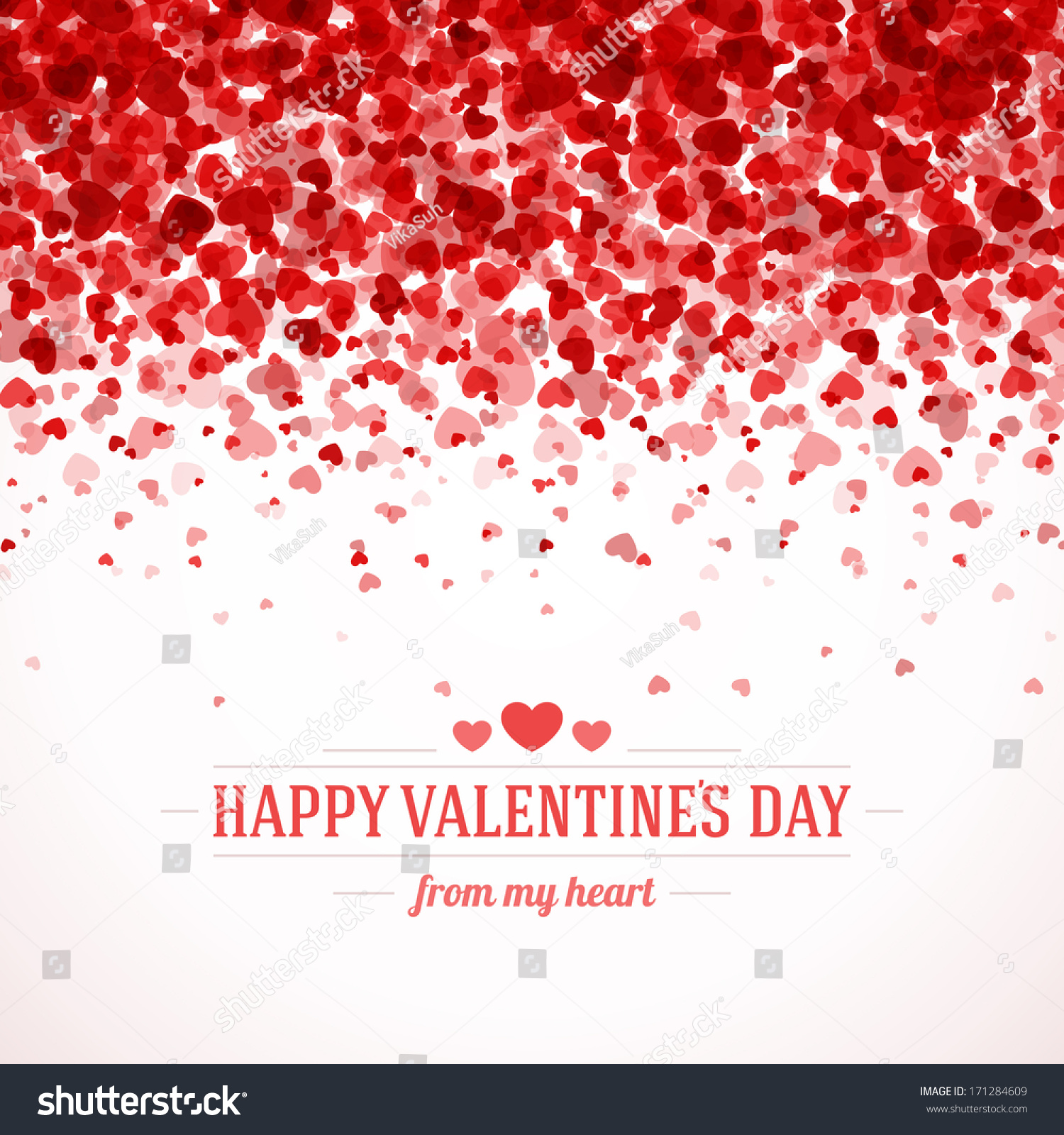 Happy Valentines Day Card Hearts Light Vector 171284609 – Valentine Card Background