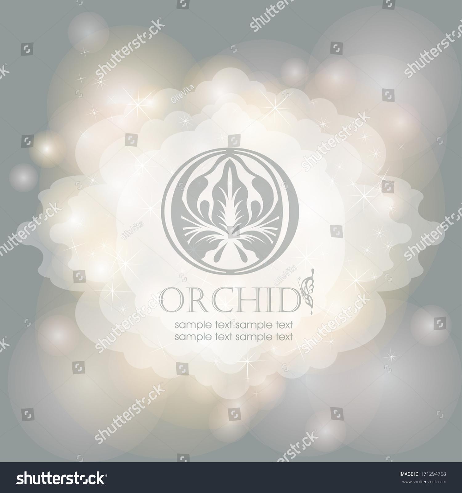 Flower Symbol On Magical Lights Background Stock Vector 171294758