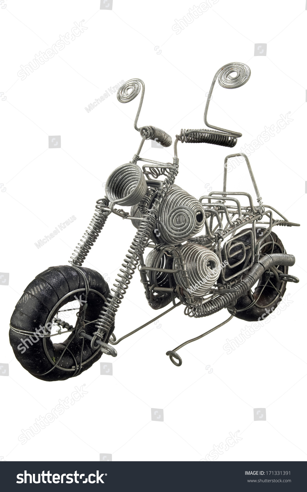 Wire Crafted Motorcycle Statue Stock Photo (Edit Now)- Shutterstock
