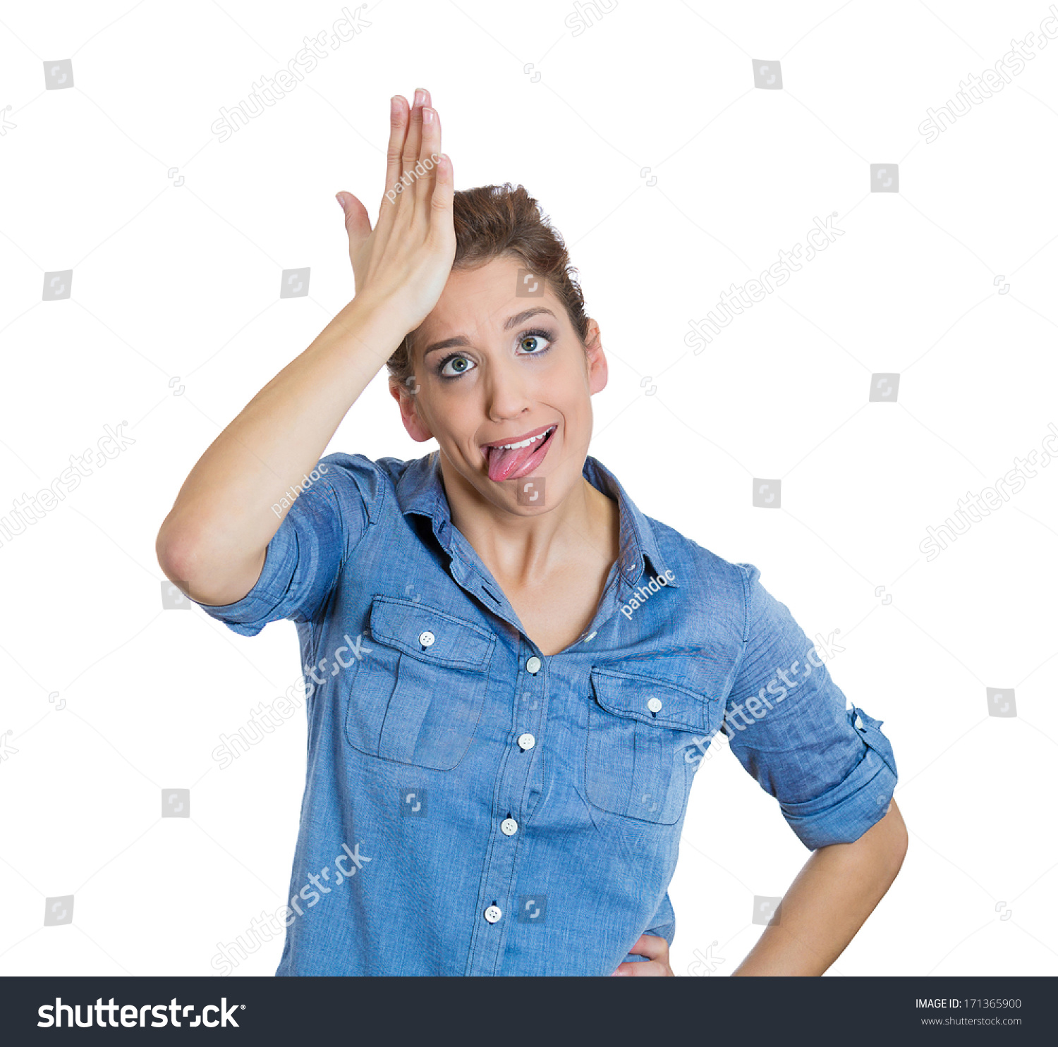 https://image.shutterstock.com/z/stock-photo-closeup-portrait-of-goofy-woman-tongue-sticking-out-slapping-hand-on-head-to-say-duh-isolated-on-171365900.jpg
