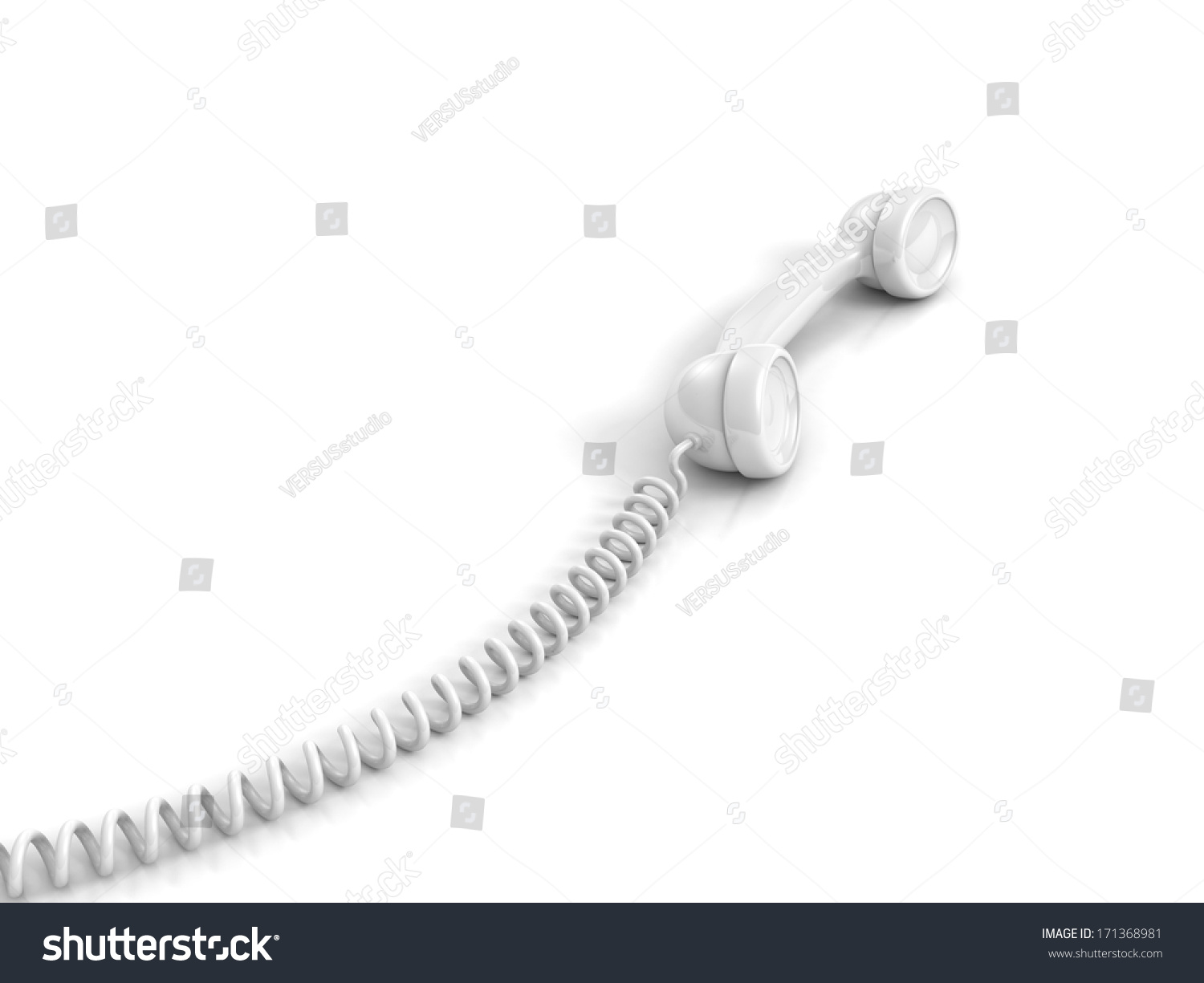 Stupendous White Telephone Handset Spiral Wire Cable Stock Illustration Wiring 101 Nizathateforg