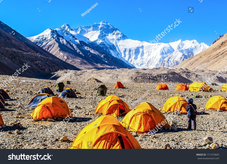 everest base camp taken base camp stock photo 171375845. Black Bedroom Furniture Sets. Home Design Ideas
