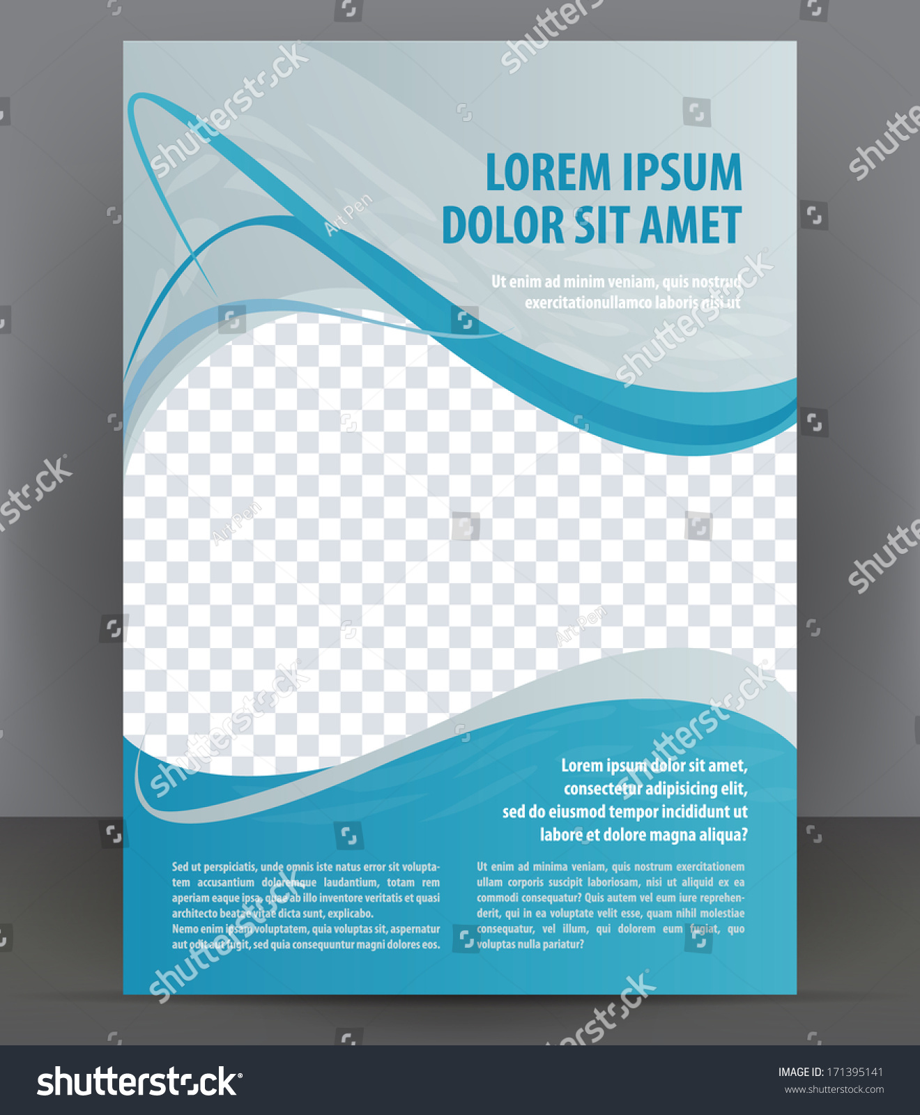 Magazine Flyer Brochure Cover Layout Design Stock Vector 171395141 ...
