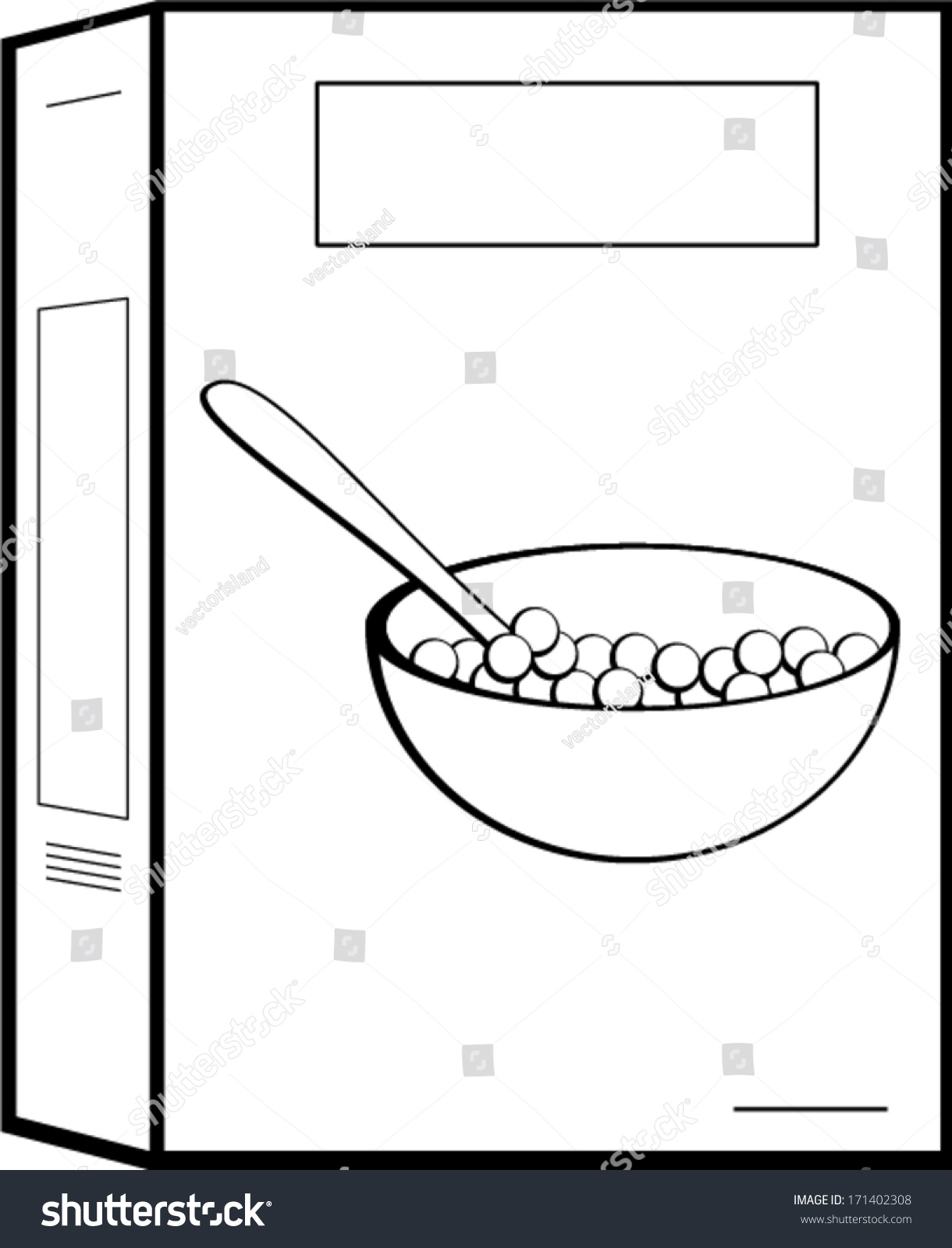 cereal box stock vector 171402308 shutterstock cereal box clipart Cereal Clip Art