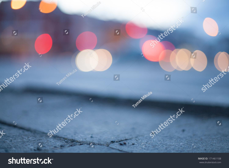 Blurred Background Night Street Street Lights Stock Photo ...  Blurred Backgro...