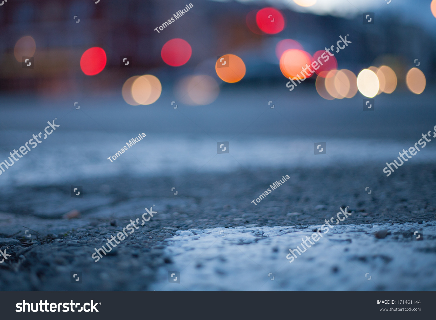 Blurred Background - Night Street With Street Lights ...  Blurred Backgro...