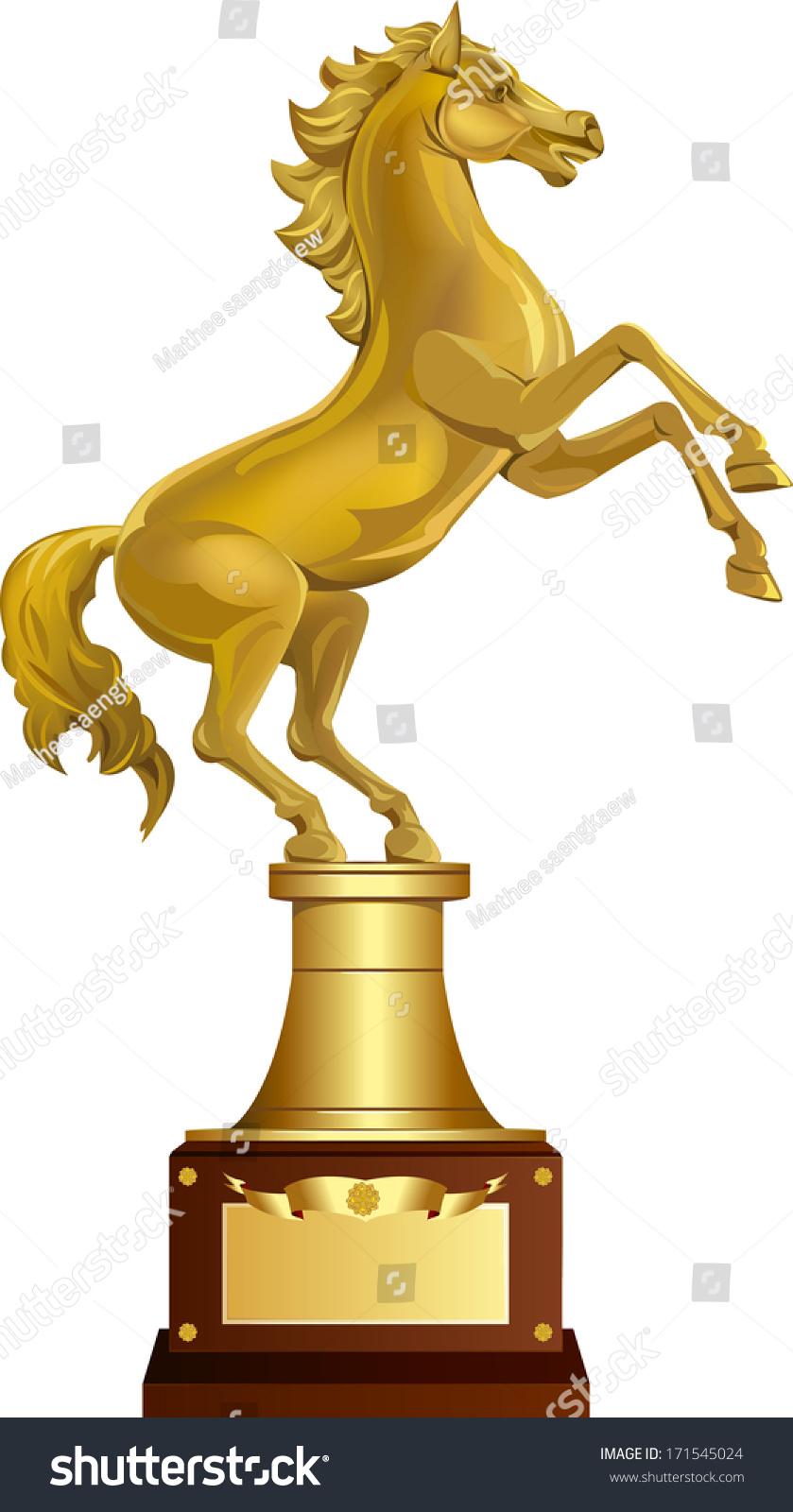 Golden Horse Award Stock Vector Royalty Free 171545024