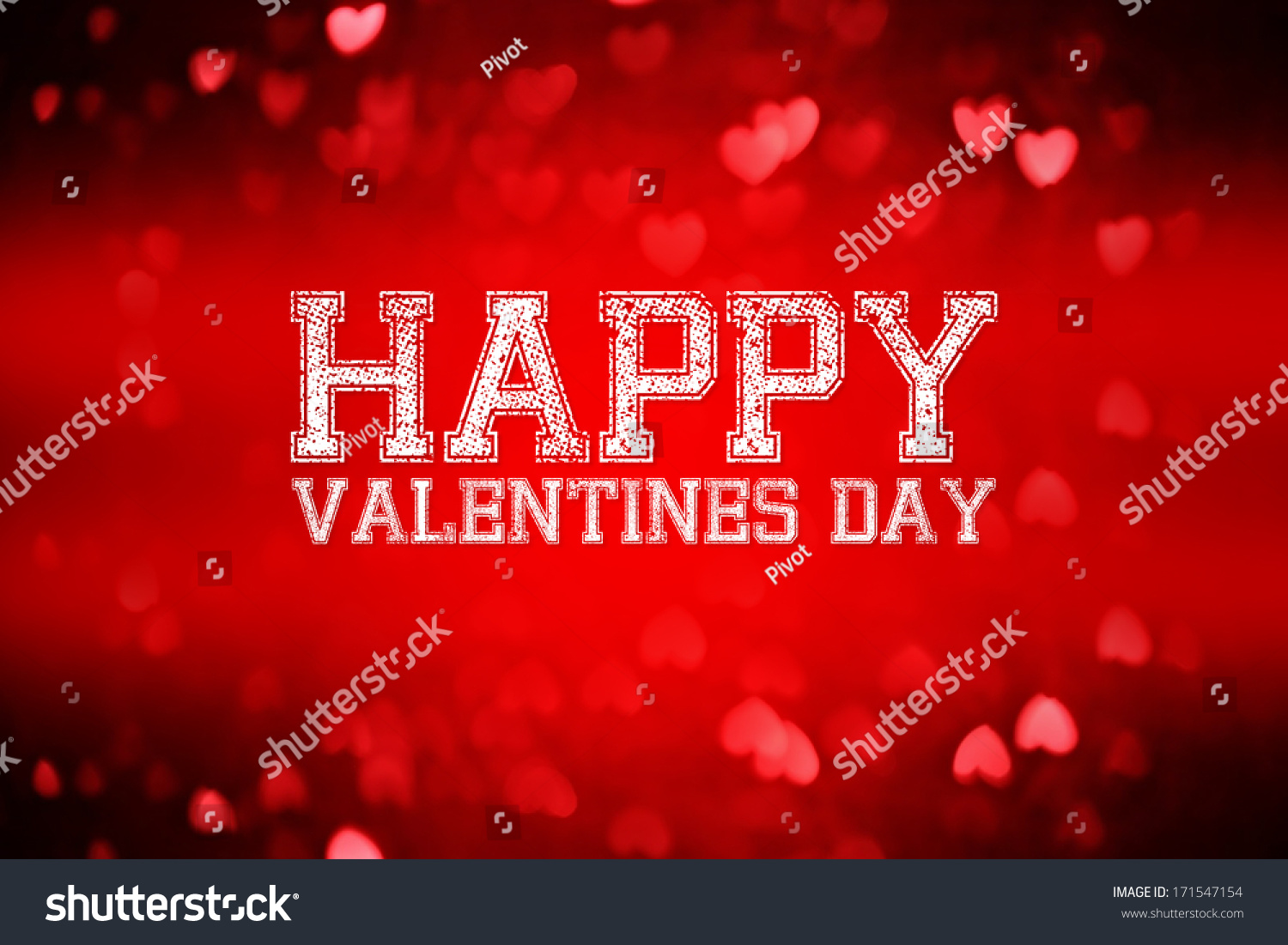 Happy Valentines Day Lettering Greeting Card Stock Illustration