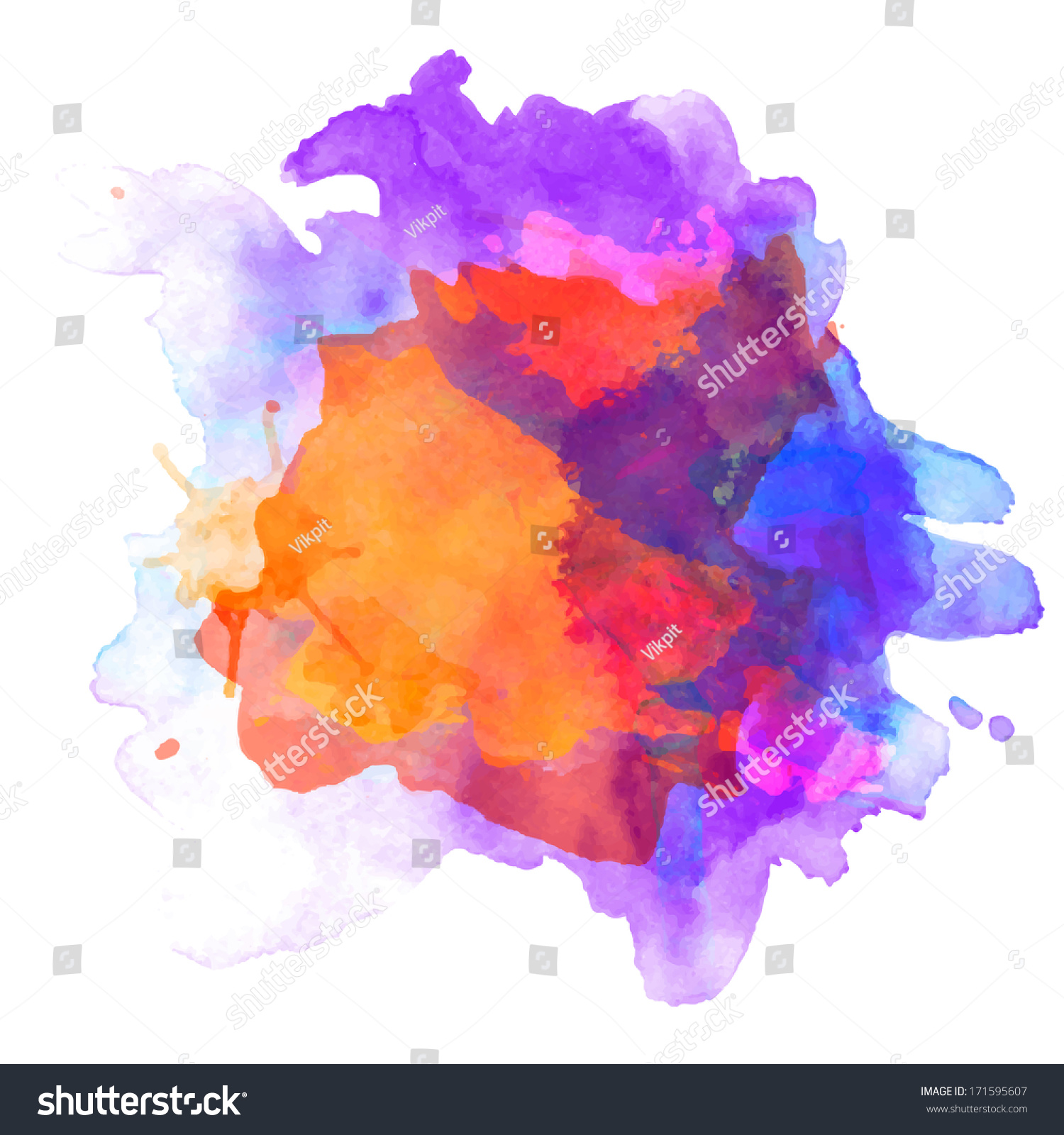 abstract vector watercolor palette blue orange stock vector (royalty free)  171595607  shutterstock