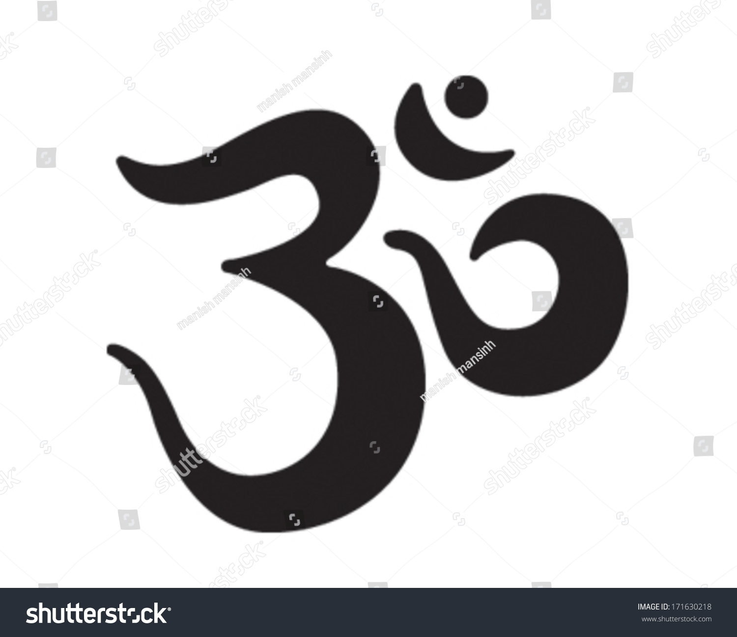 Om Sign And Symbol Stock Vector Illustration 171630218