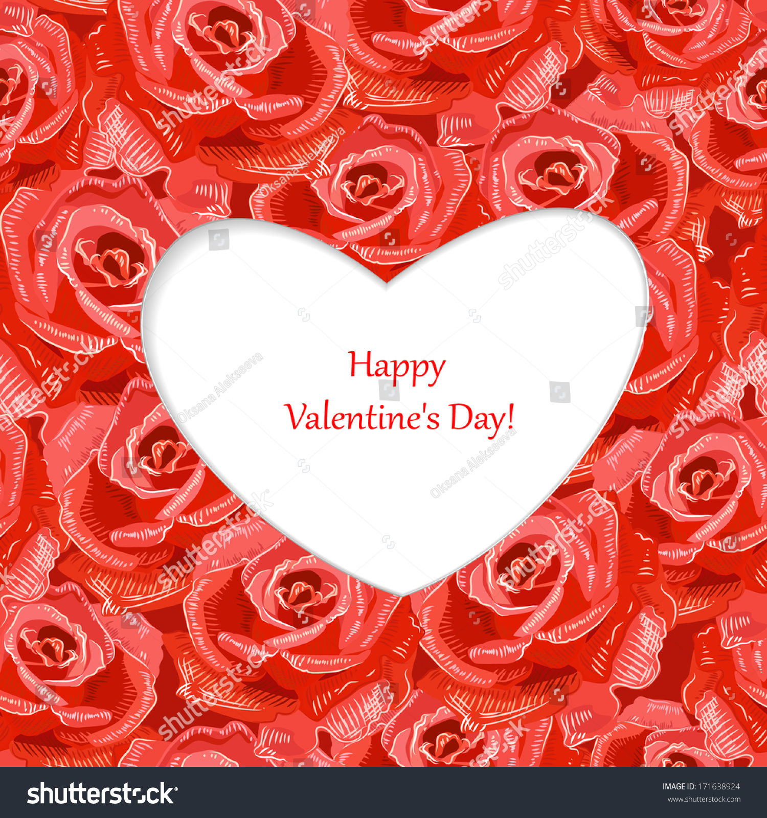 Design Greeting Cards Valentines Day Stock Vector 171638924