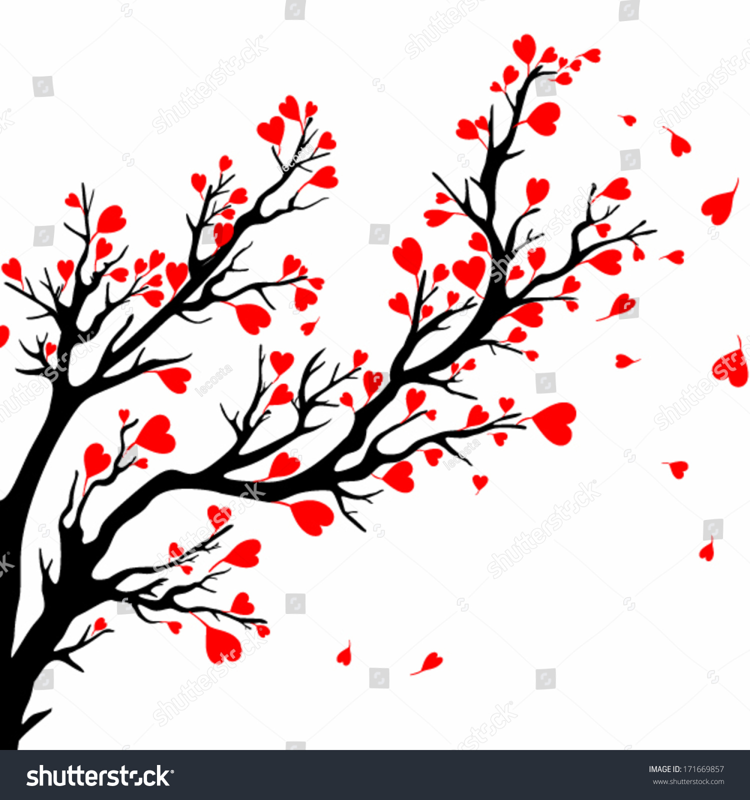 kissing birds in love at branch vector art download