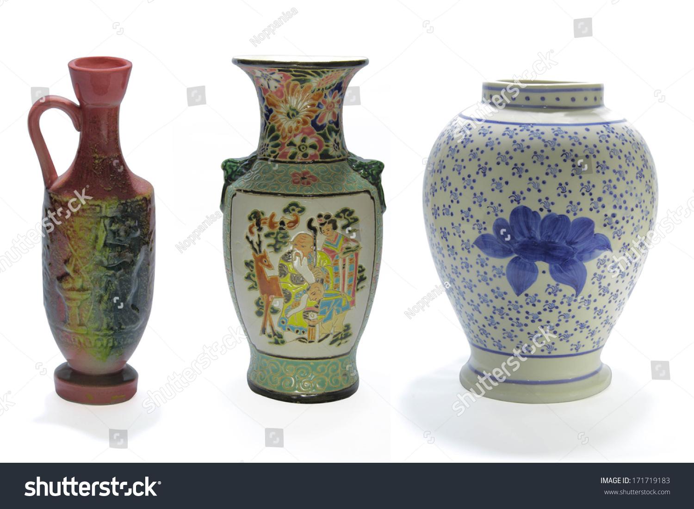 Chinese antique vase on white background stock photo 171719183 chinese antique vase on the white background reviewsmspy