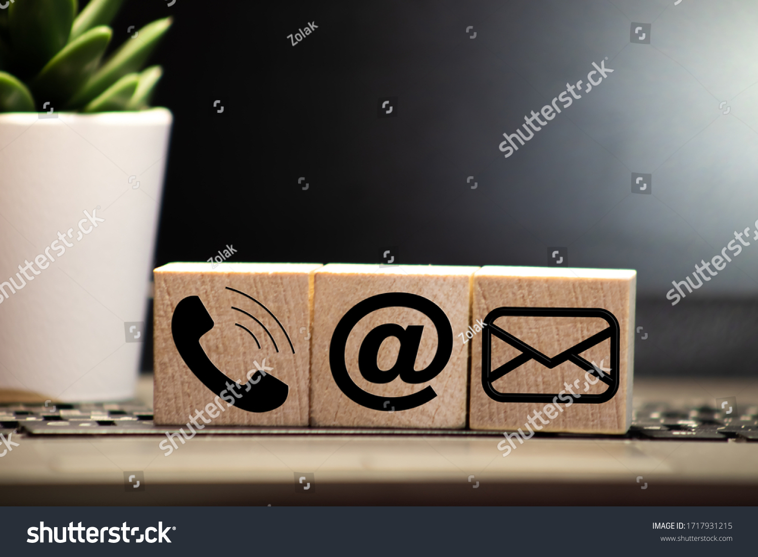 Website and Internet contact us page concept with black icons #1717931215