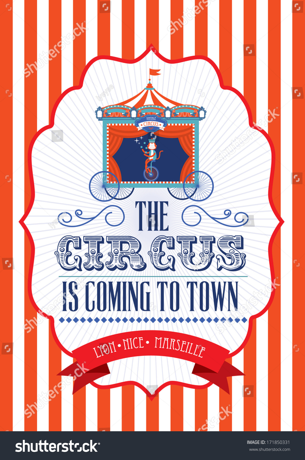 Vintage Fun Faircarnivalcircus Poster Template ...