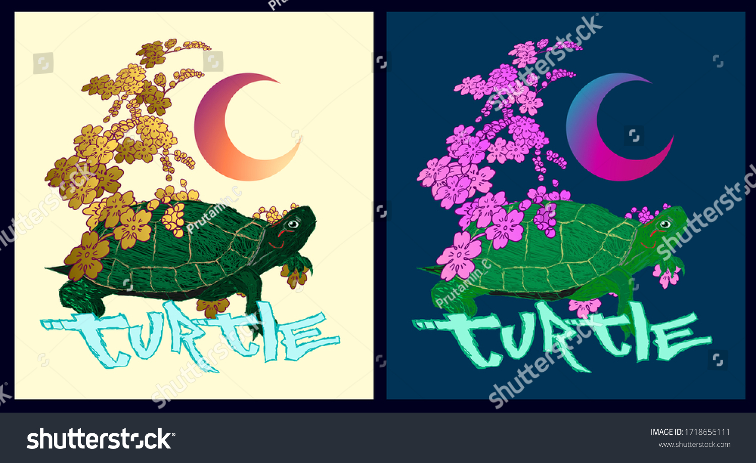 turtle illustration design for sukajan is mean japan traditional cloth or t-shirt with digital hand drawn Embroidery Men T-shirts Summer Casual Short Sleeve Hip Hop T Shirt Streetwear