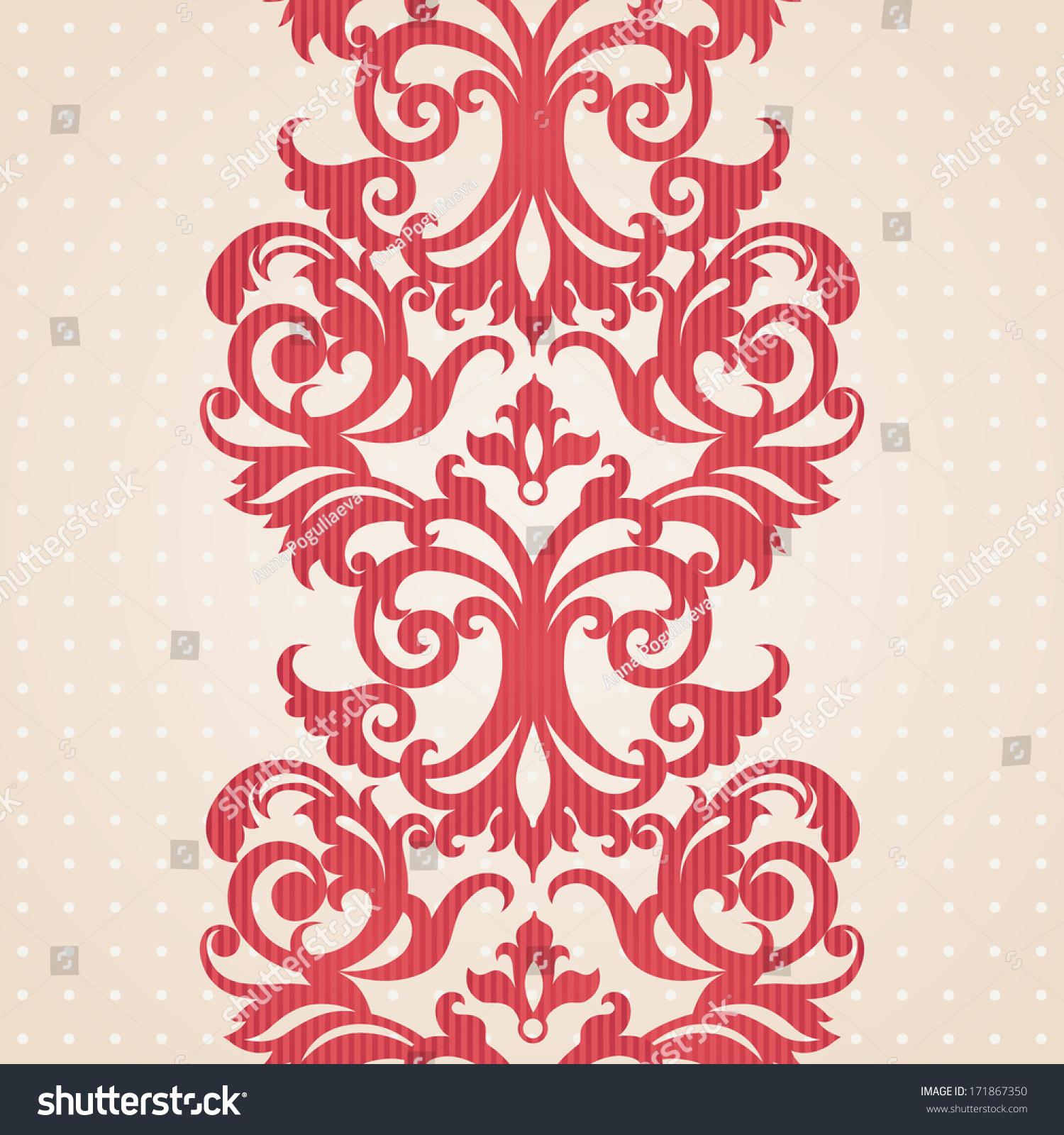 Royalty-free Vector baroque border in Victorian… #171867350 Stock ...