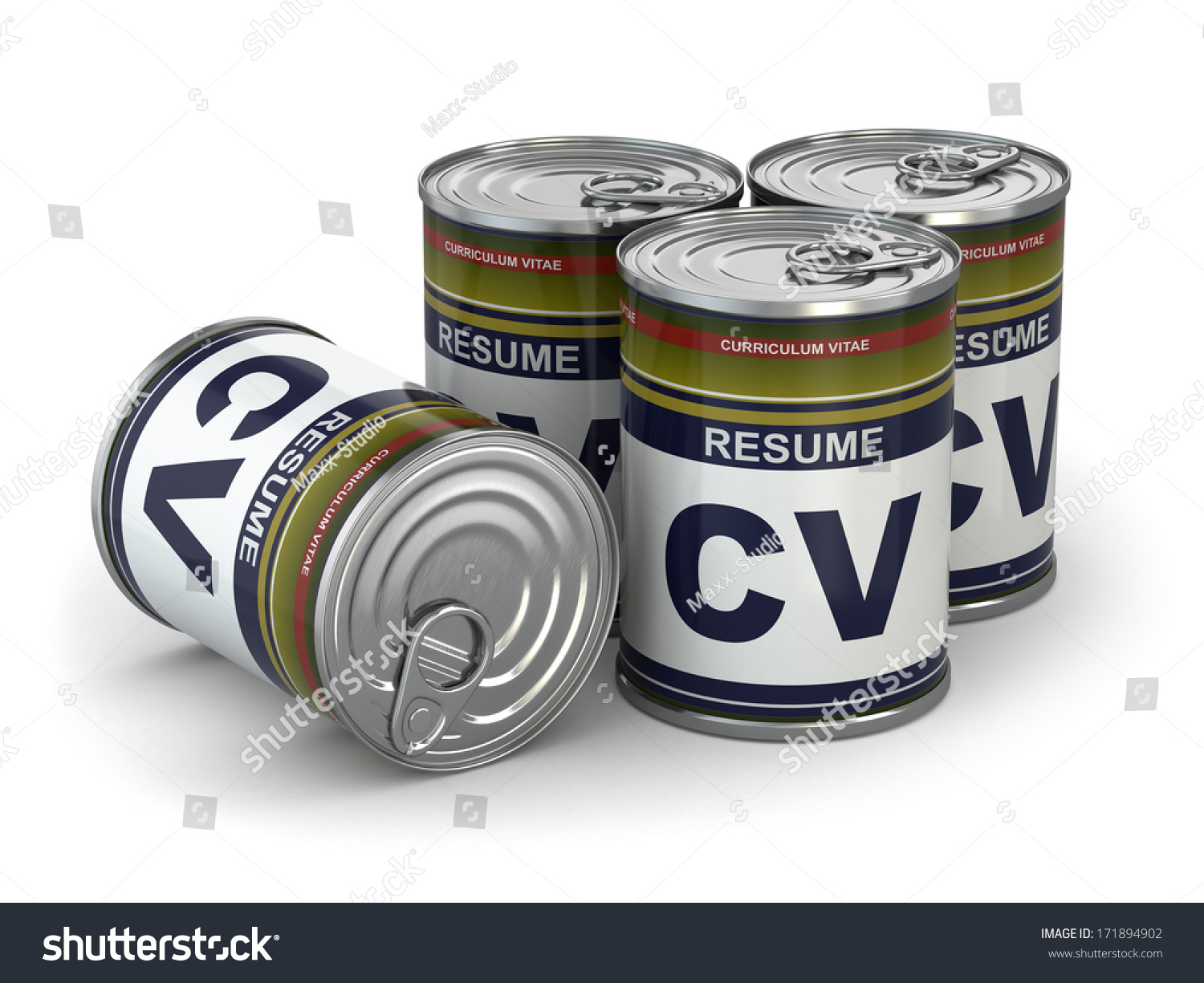 cv can  conceptual image of resume  3d stock photo 171894902   shutterstock