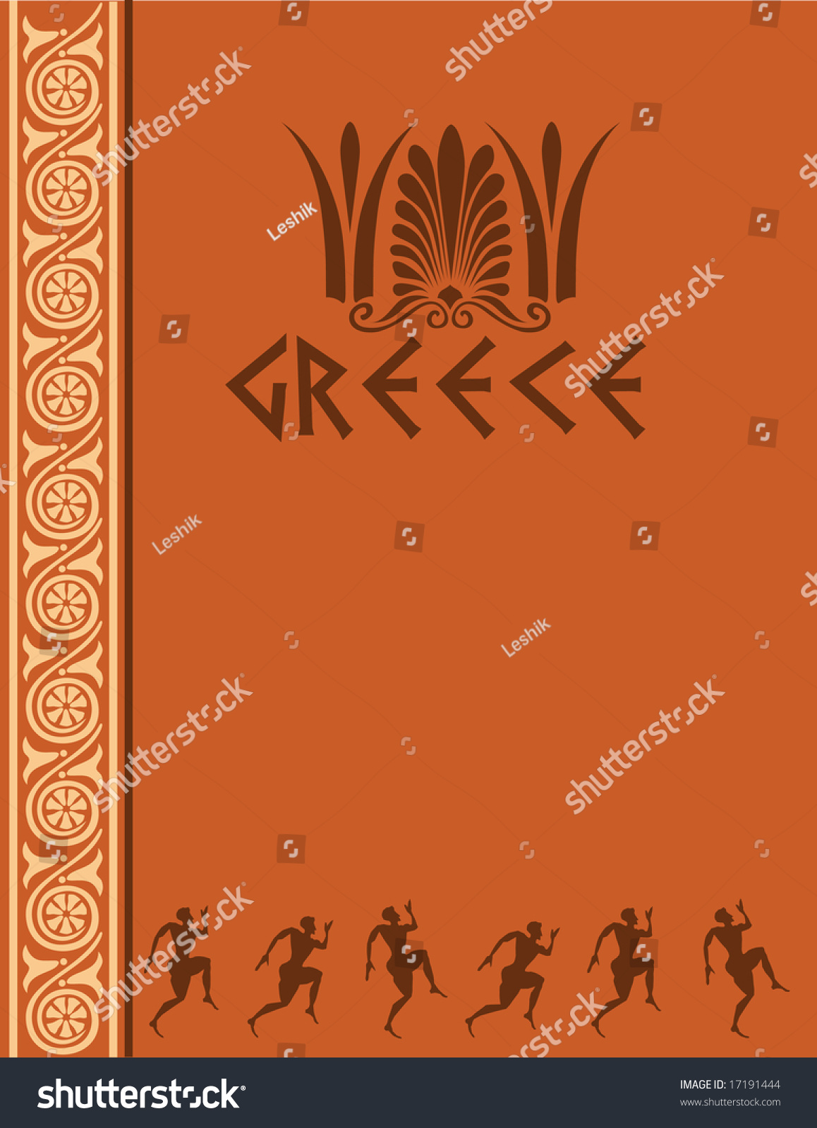 Greek ancient design template book cover stock vector 17191444 greek ancient design template for book cover vector file is included toneelgroepblik Images