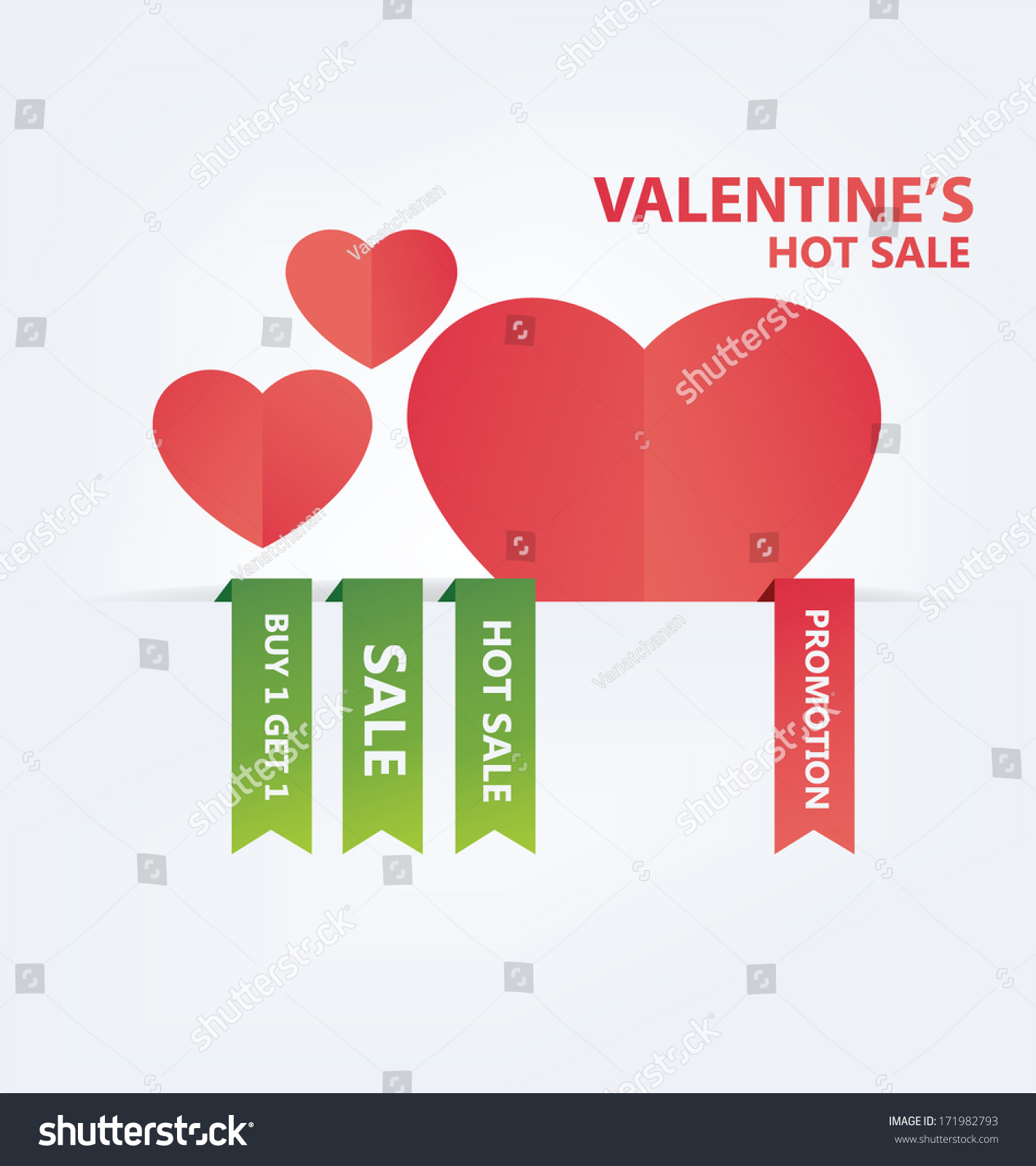 ecfe2e3096 Valentines Day Hot Sale Illustration Stock Vector (Royalty Free ...