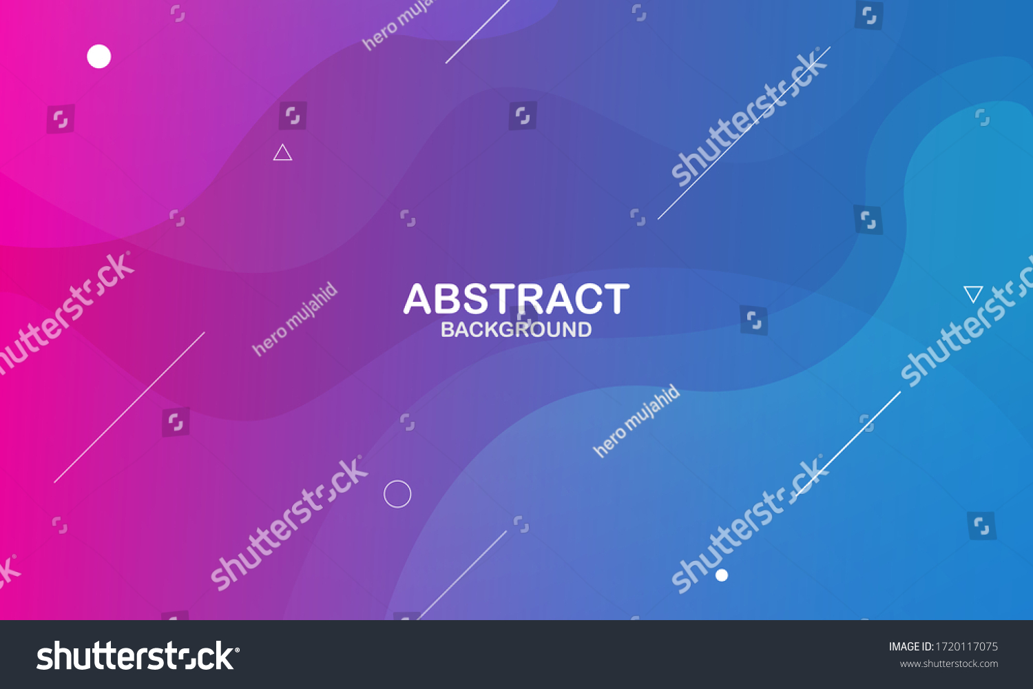 Colorful geometric background. Liquid color background design. Fluid shapes composition. Eps10 vector. #1720117075
