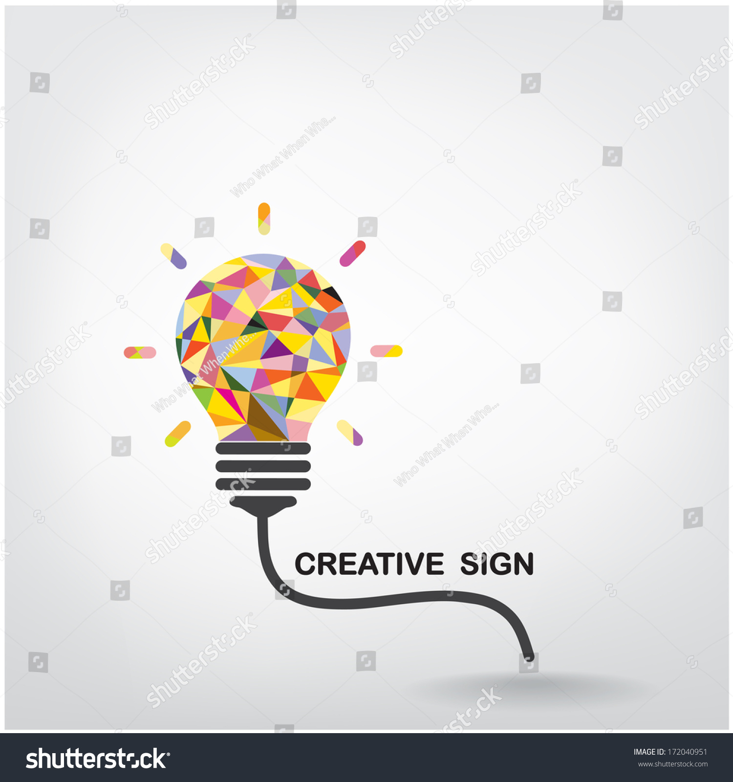 Creative Light Bulb Idea Concept Background Stock Vector ...