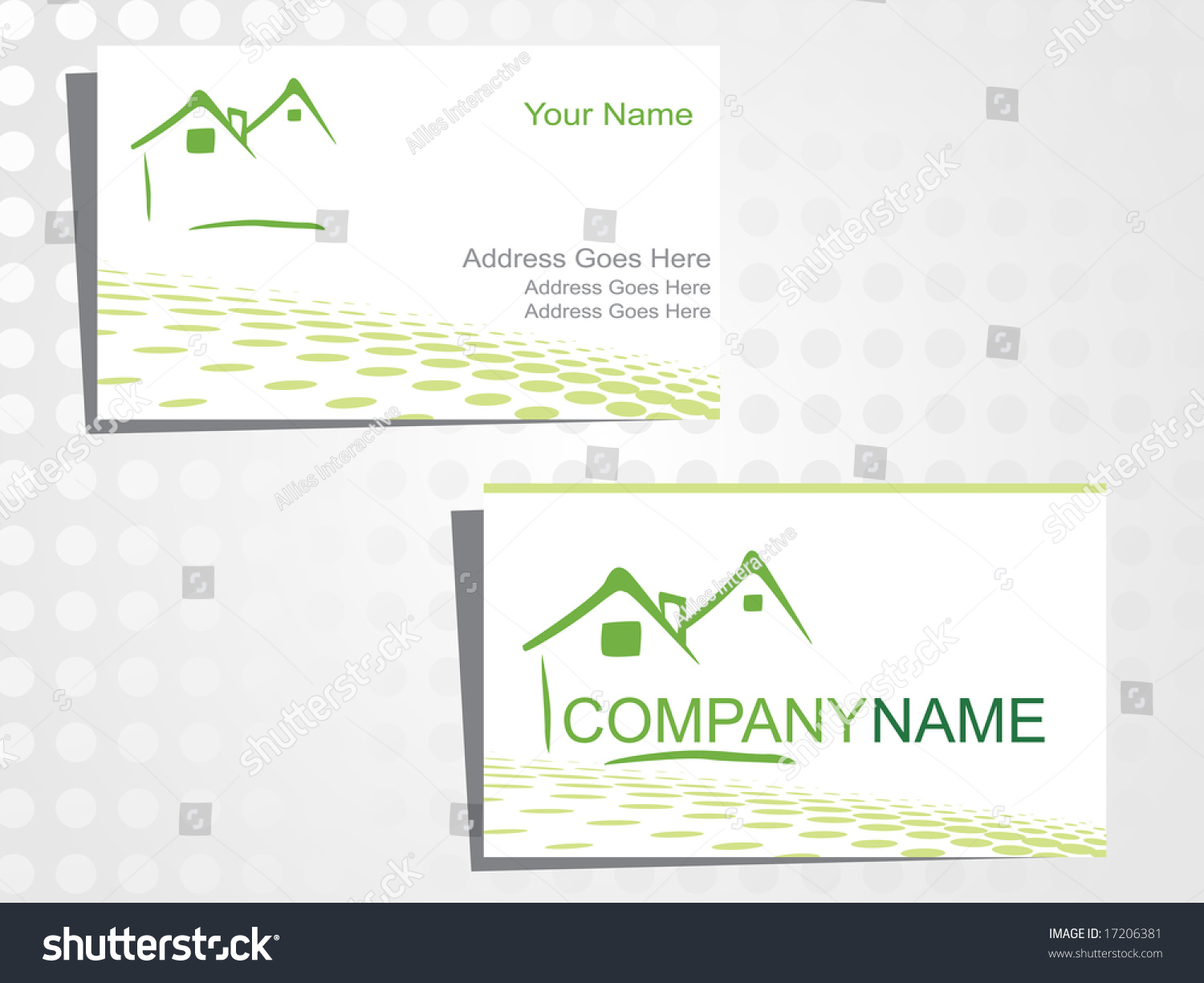real state business card logo stock vector real state business card with logo