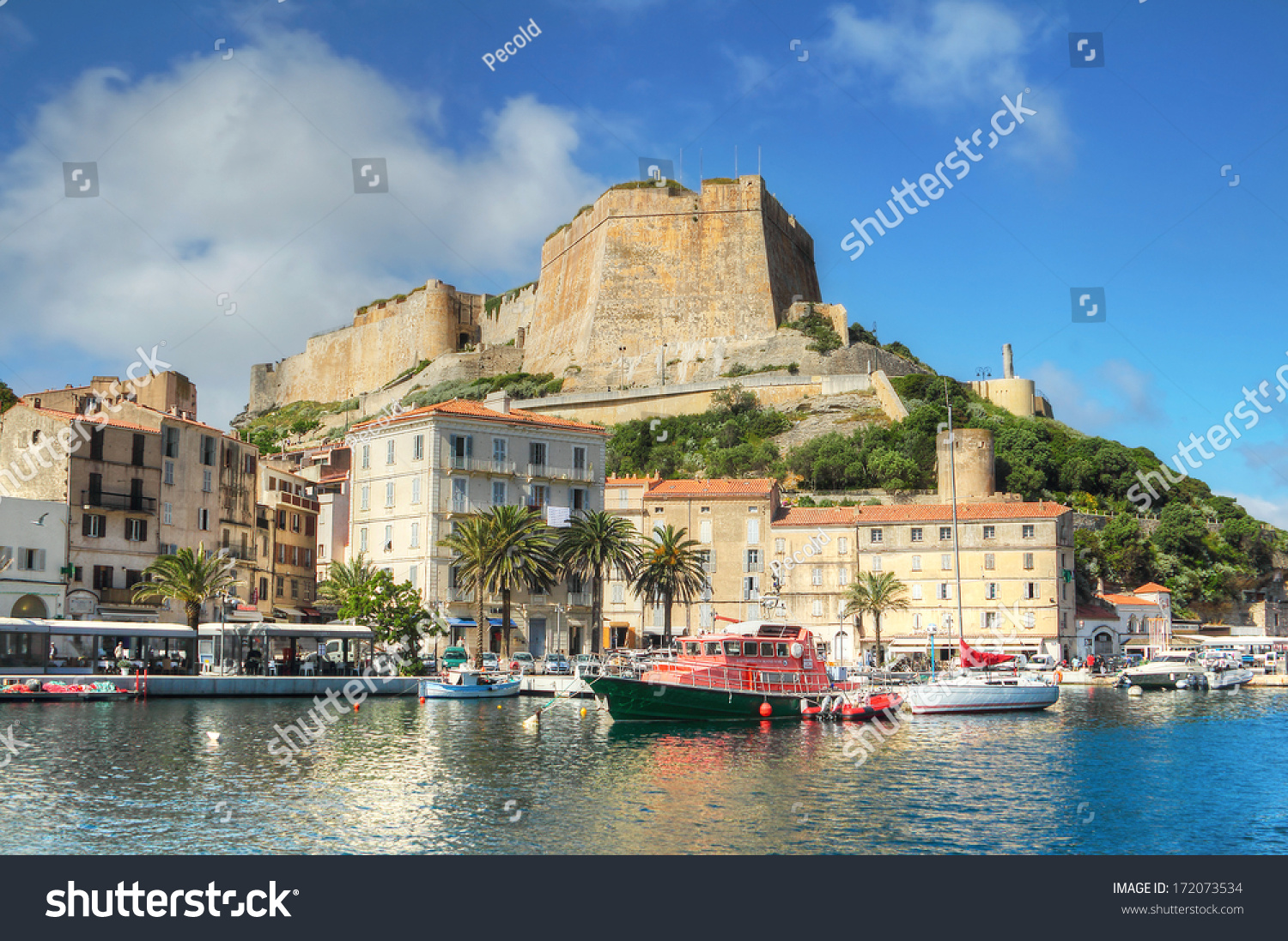 The port de plaisance of bonifacio corsica france stock - Liste des ports de plaisance en france ...