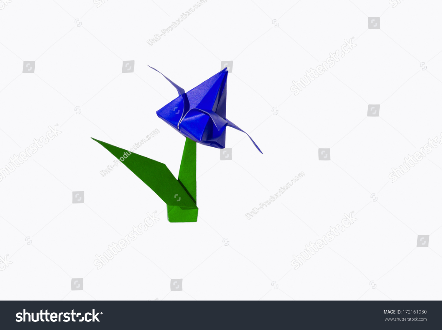 Origami blue flower tulip isolated on stock photo royalty free origami blue flower tulip isolated on stock photo royalty free 172161980 shutterstock mightylinksfo