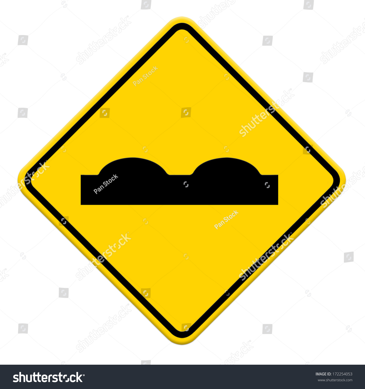 Road Sign Beware Surface Roughness Ez Canvas