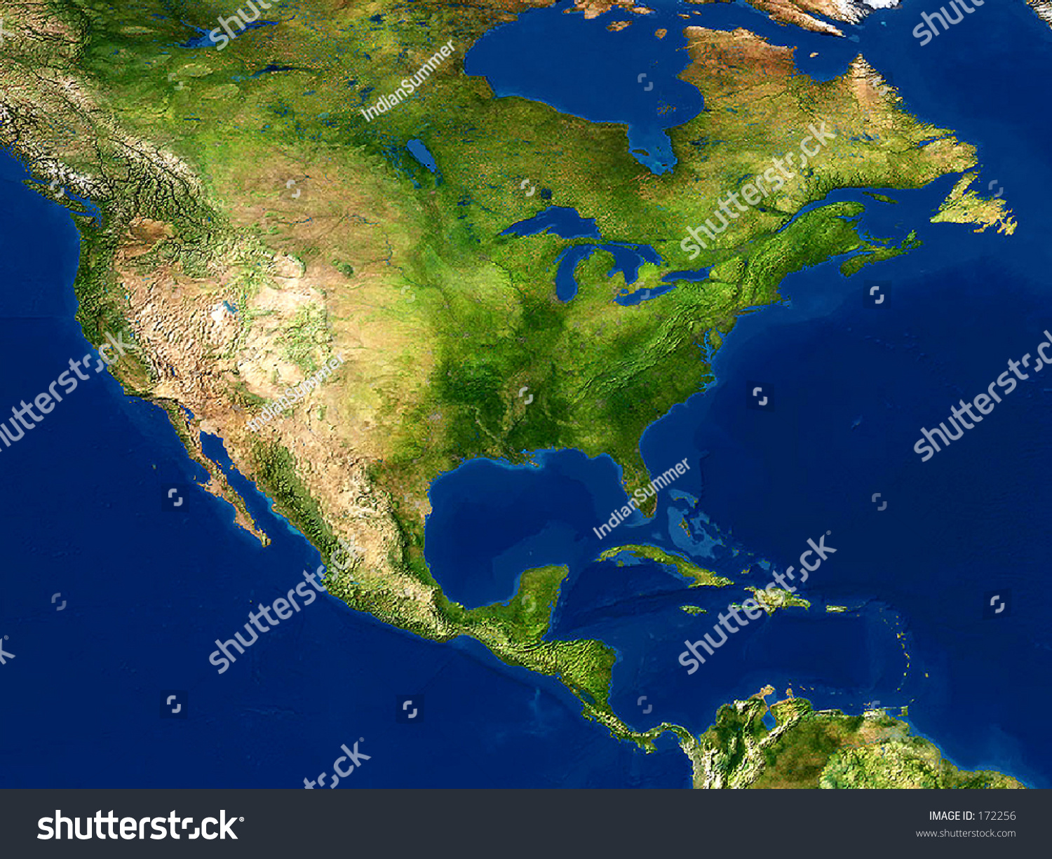 Real looking earth map north america stock photo royalty free real looking earth map north america in the center globe is accurate and right gumiabroncs Images