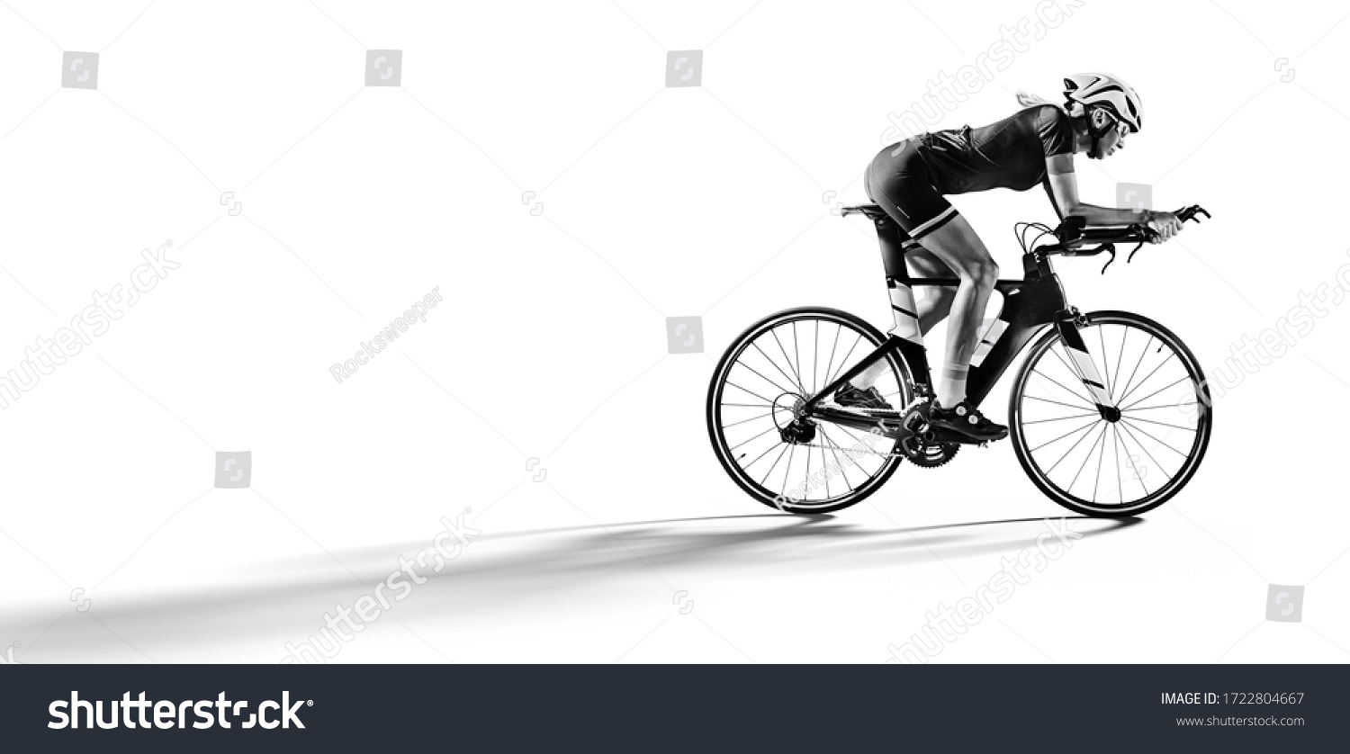Sport. Athlete cyclists in silhouettes on white background. Isolated on  white. #1722804667