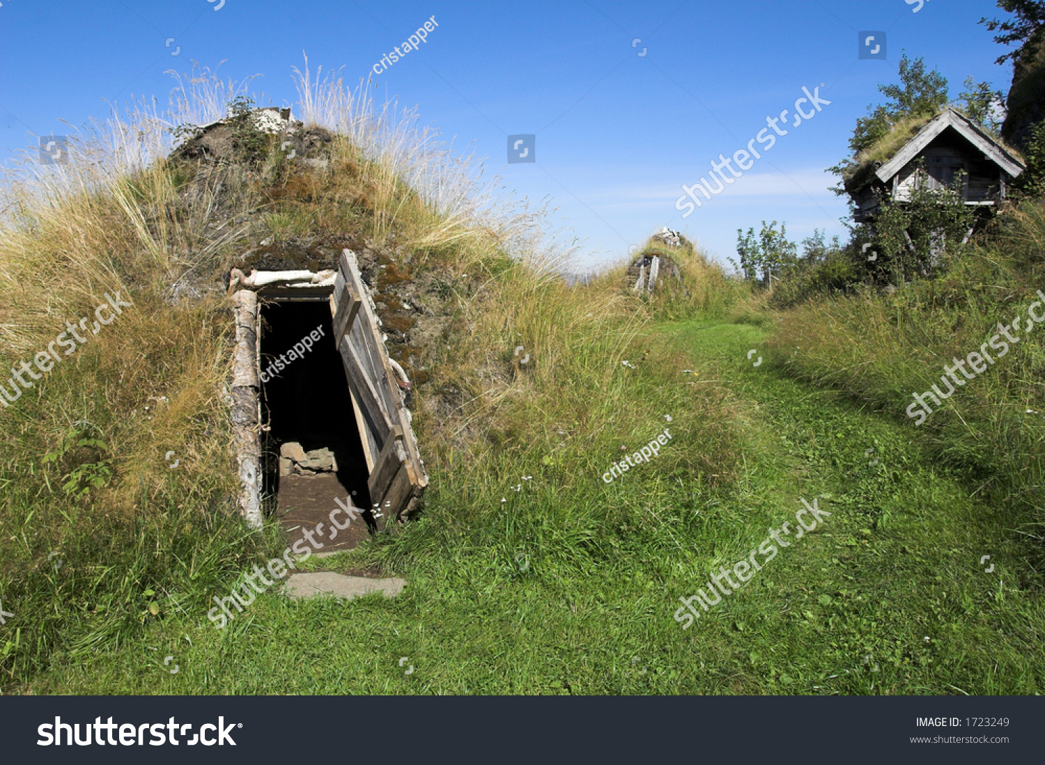 Unusual ancient sami dwellings stock photo 1723249 for Unique dwellings