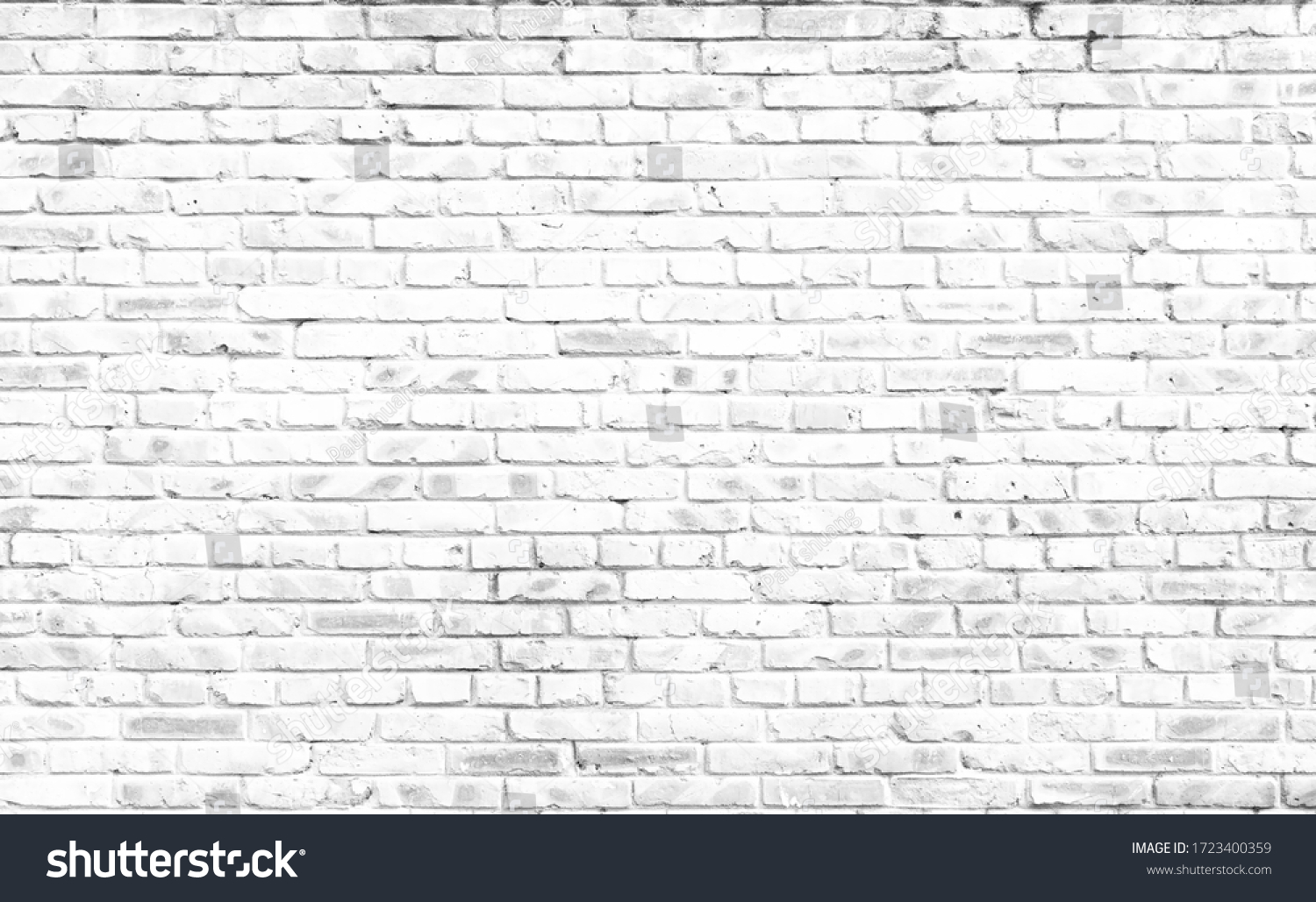 Abstract  white brick wall textured background #1723400359