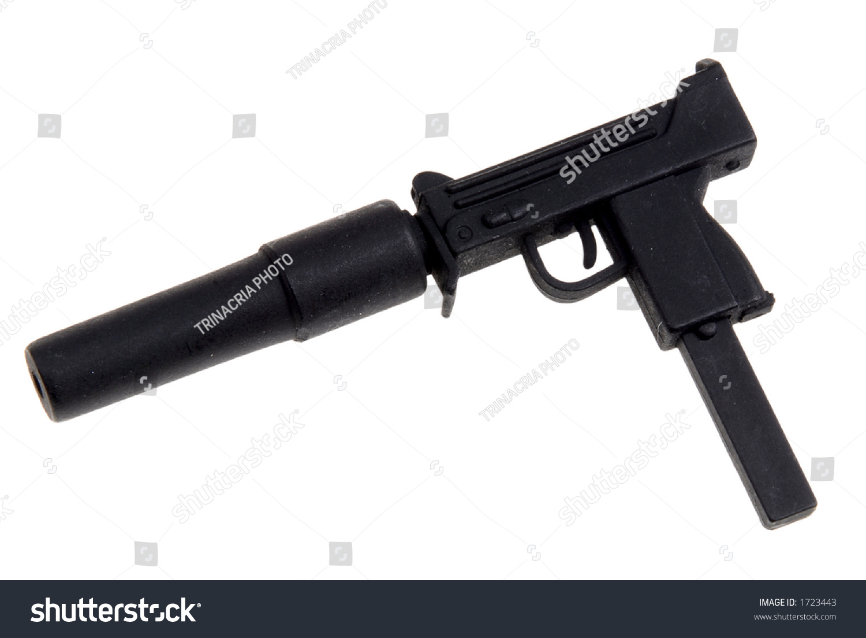 plastic toy mini machine gun silencer stock photo edit now 1723443