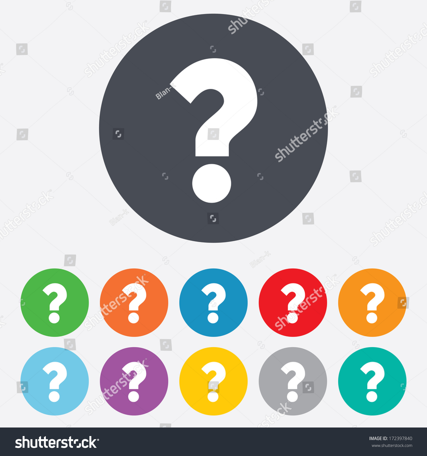 Question Mark Sign Icon Help Symbol Stock Vector 2018 172397840