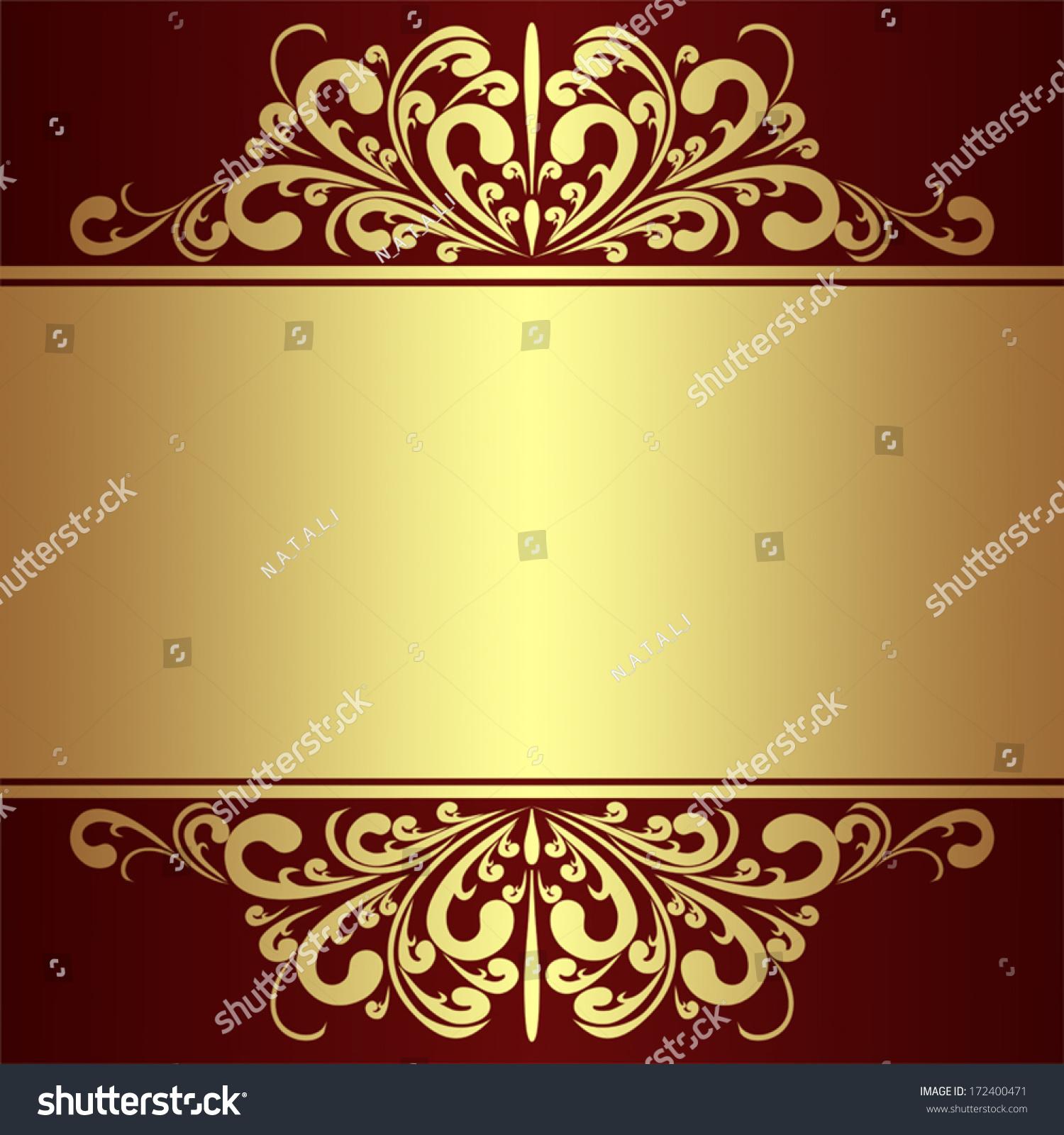 luxury background golden royal borders stock vector