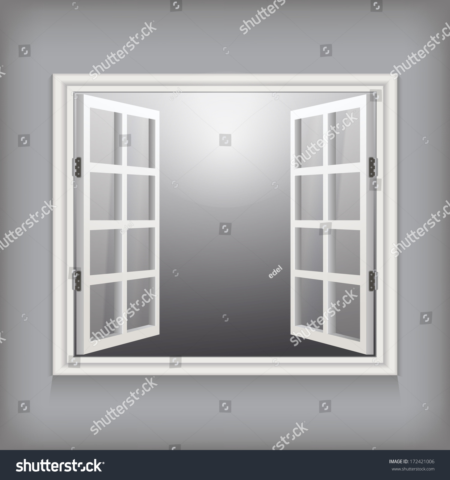 Open window vector template design stock vector 172421006 for Window design template