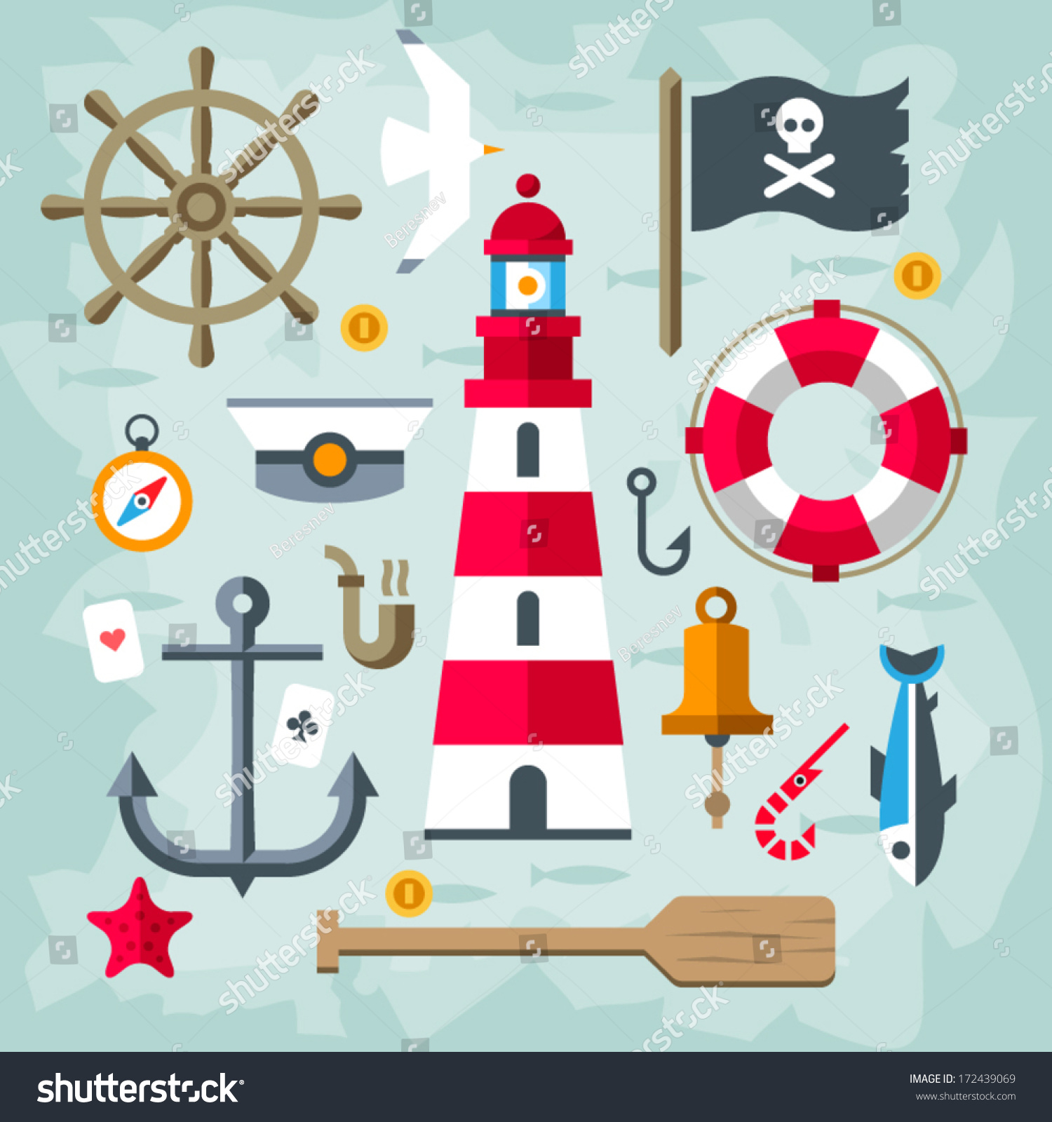 Nautical Lighthouse Clipart - clipartsgram.com