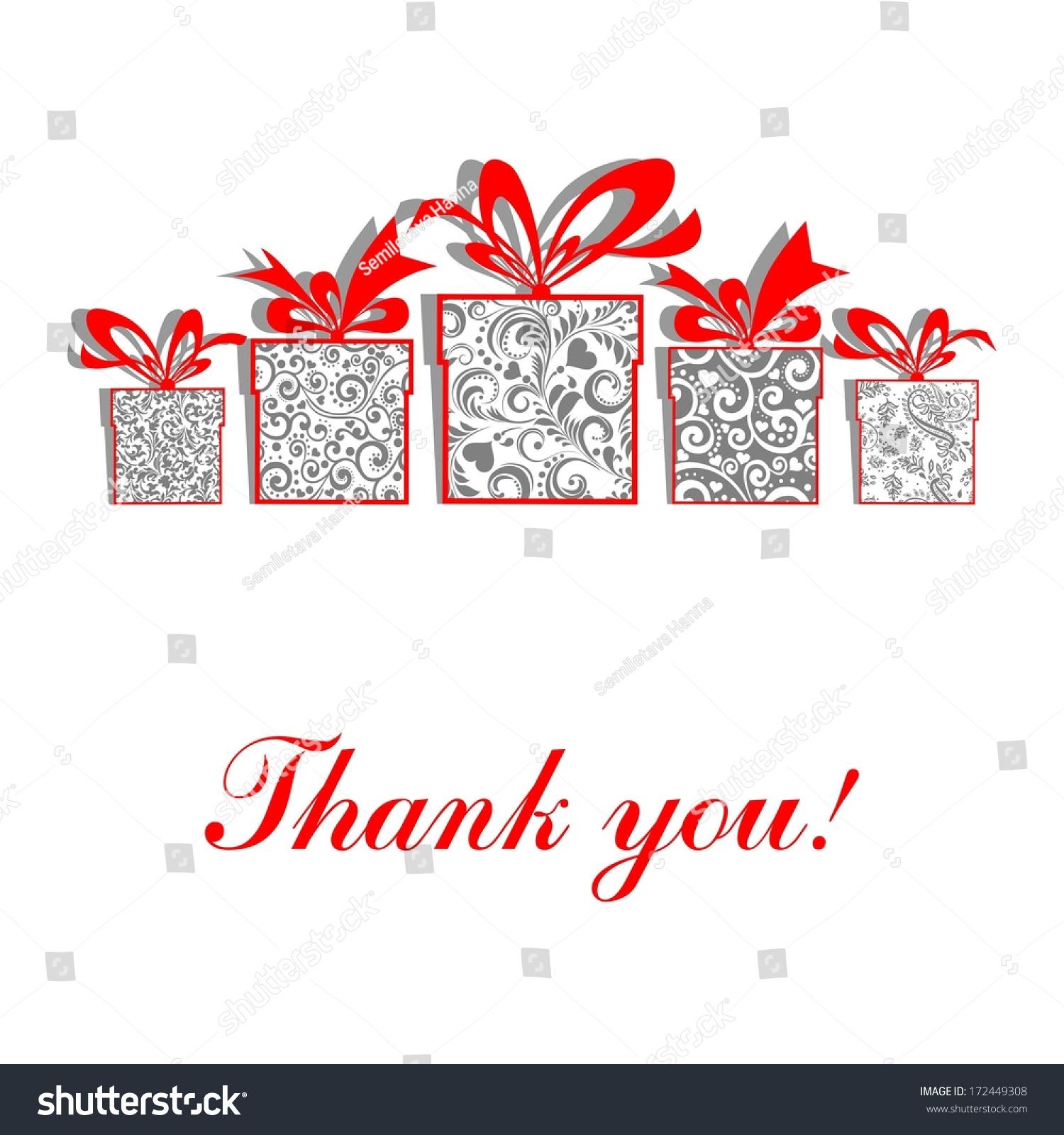 Thank You Greeting Card Celebration Background Gift Stock