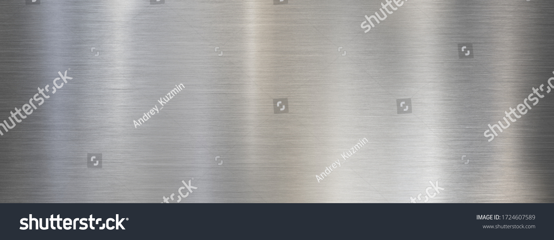 Fine metal brushed wide steel or aluminum textured background #1724607589