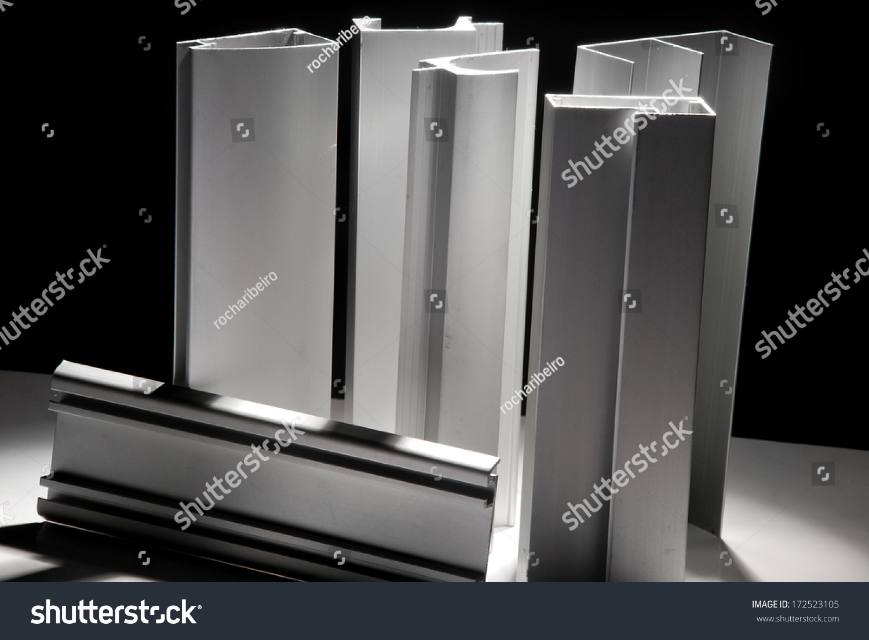 aluminum profile stock photo 172523105 shutterstock. Black Bedroom Furniture Sets. Home Design Ideas