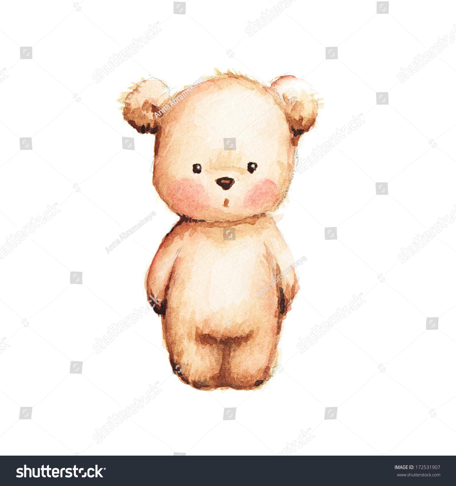 Drawing Cute Teddy Bear Stockillustration 172531907 – Shutterstock