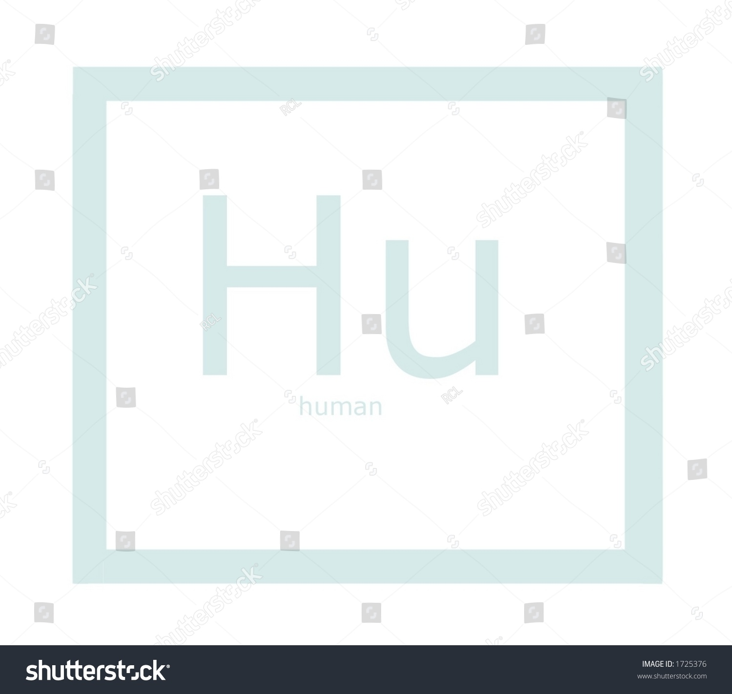Hu Human Element On Periodic Table Stock Photo Edit Now 1725376